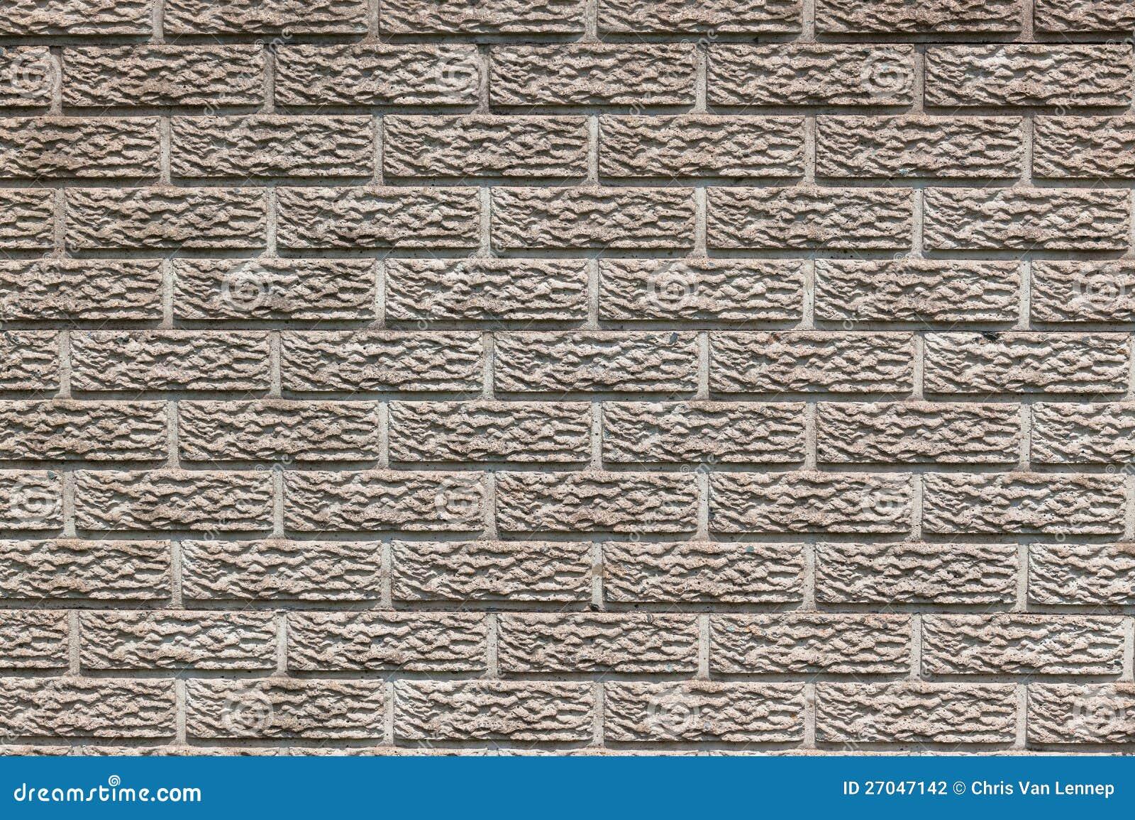 Concrete Brick Design Fence Stock Photography Image