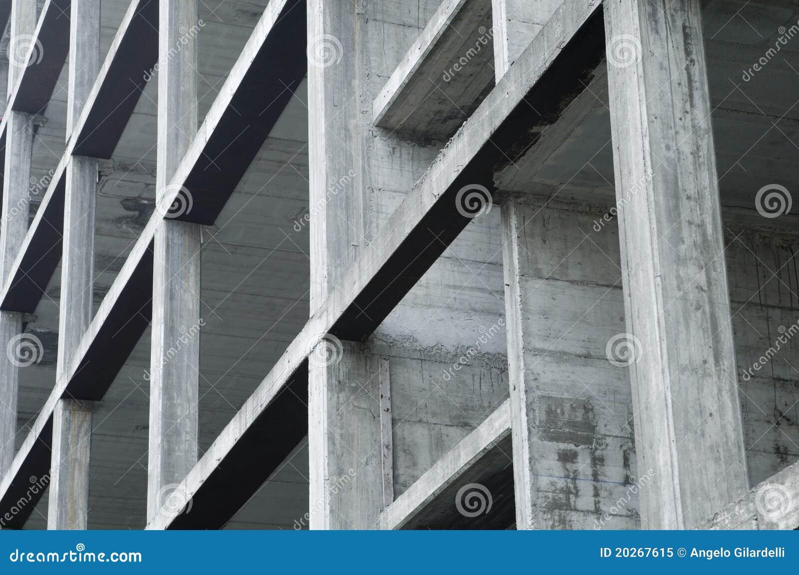 Concrete Building Construction : Concrete building under construction stock image