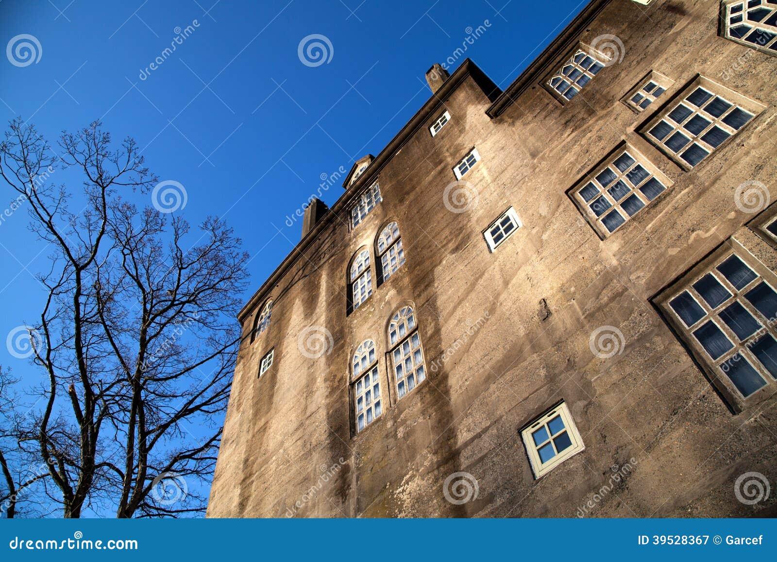 Concrete Building With Windows : Concrete building with windows stock photo image