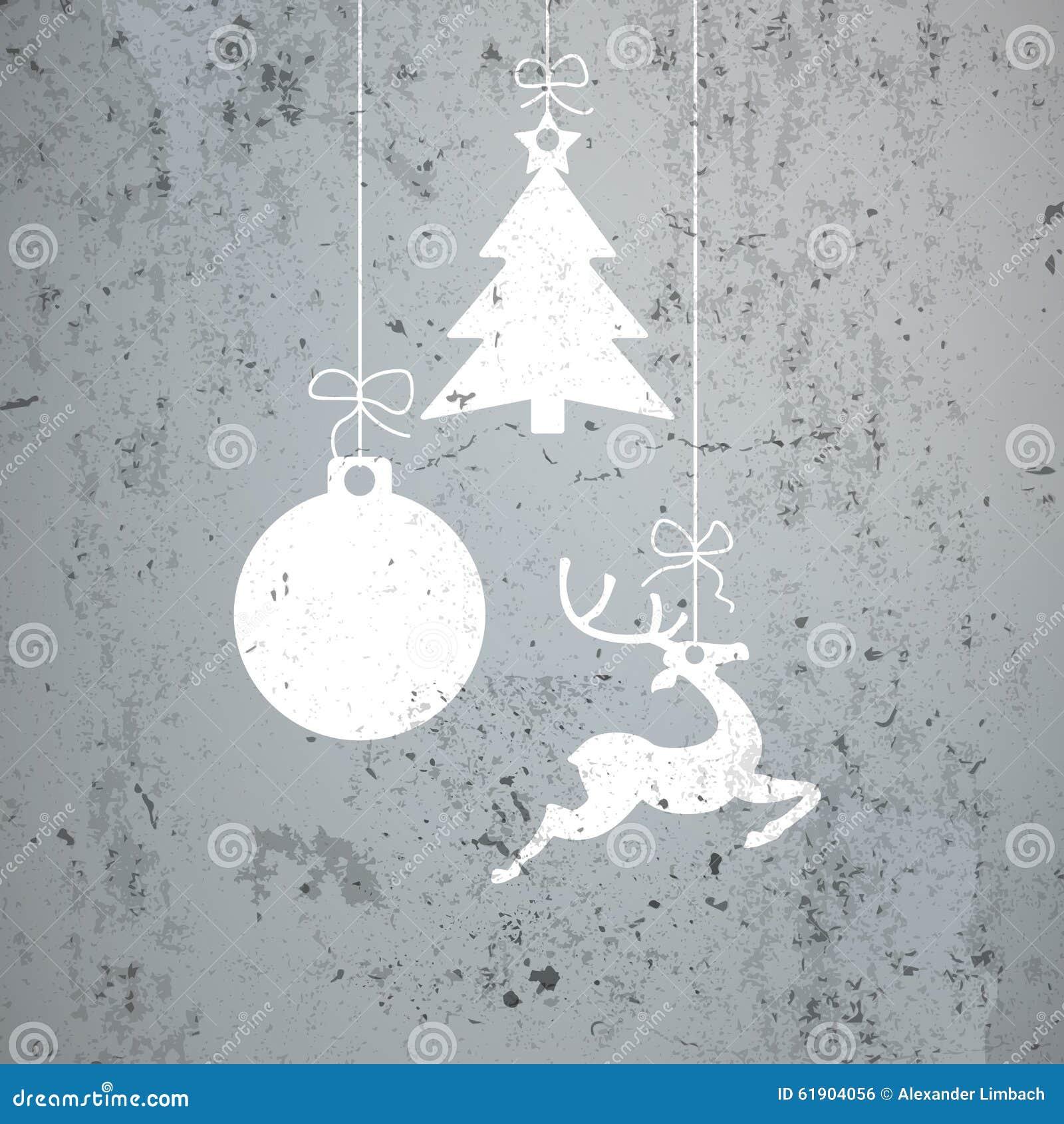 A Celebration Of Concrete: Concrete Christmas Card Stock Illustration. Illustration