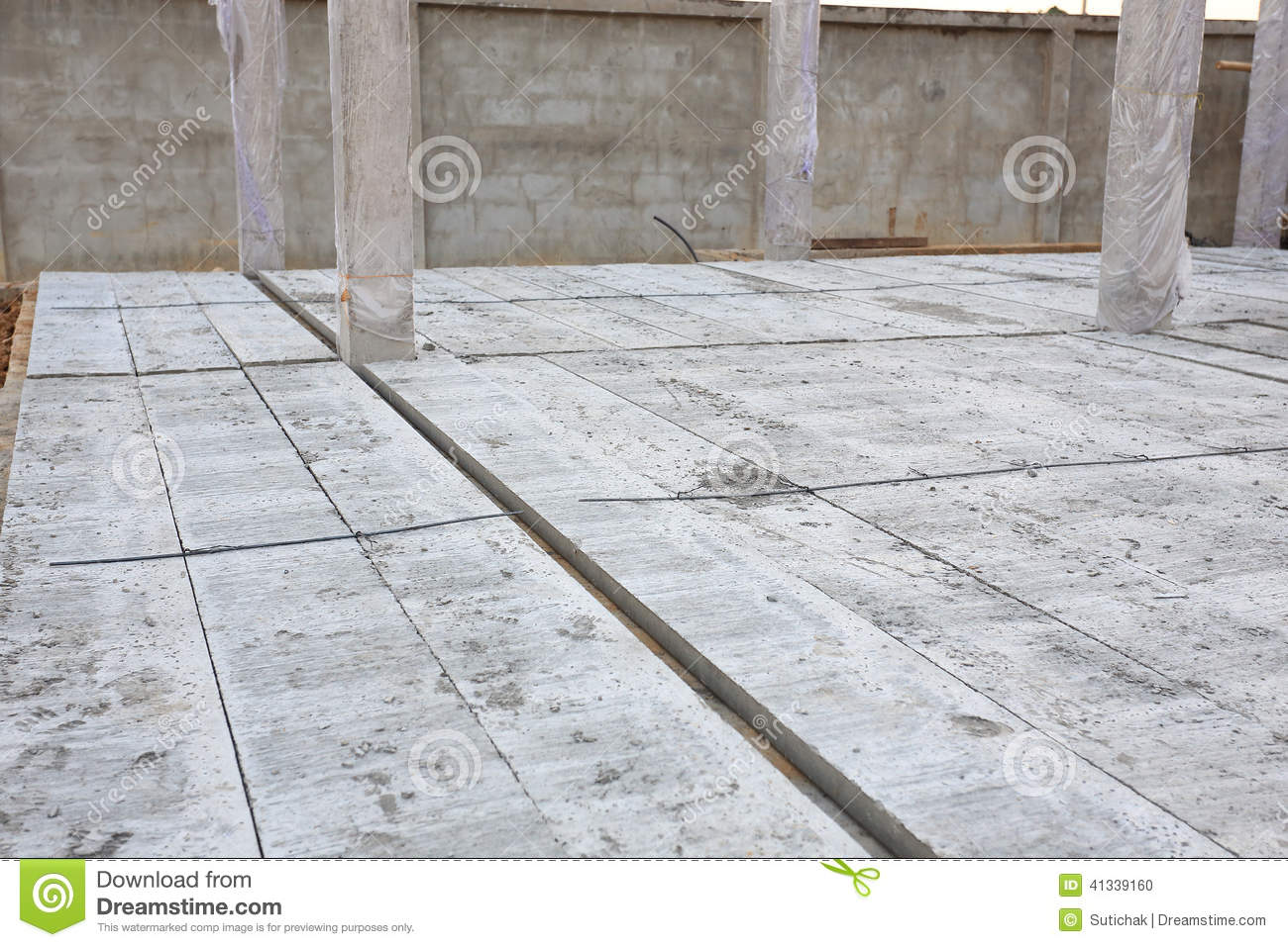 Concrete floor slab panel stock photo image 41339160 for Builder floor
