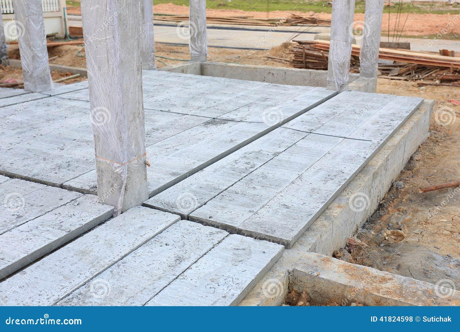 Concrete Floor Slab Panel Stock Photo Image 41824598