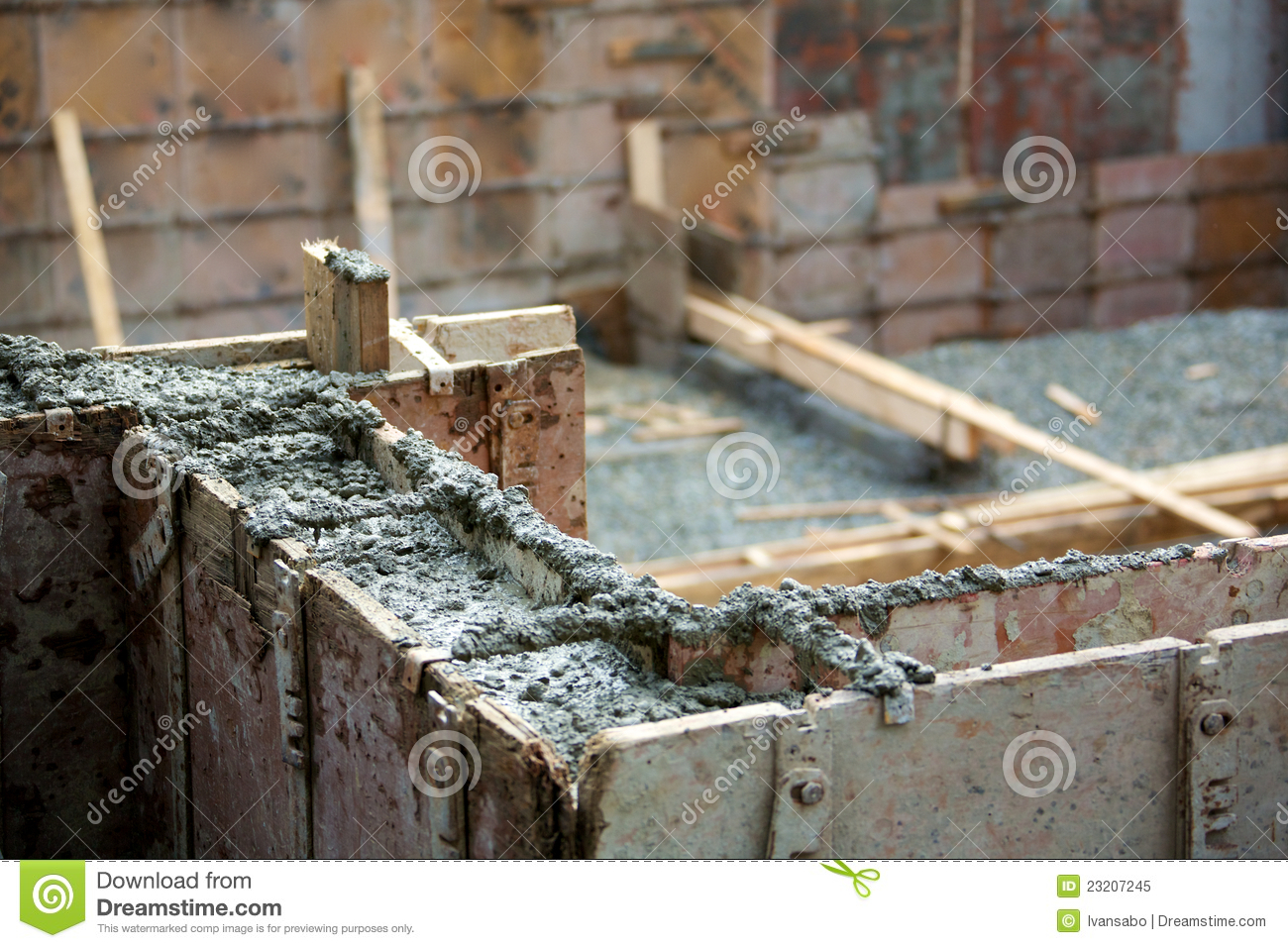 Concrete foundation royalty free stock photo image 23207245 for Poured foundations