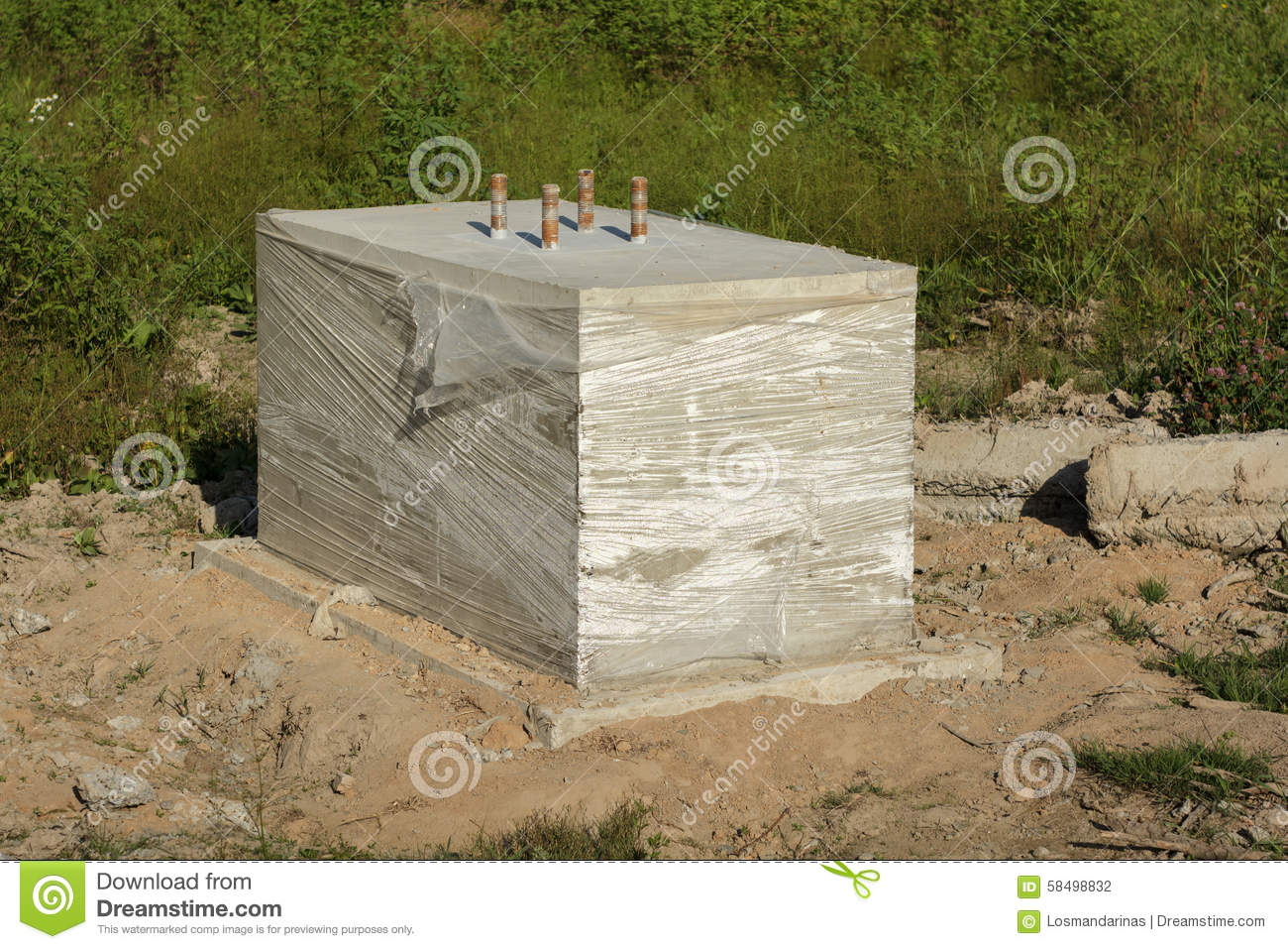 Concrete foundation stock photo image 58498832 for Which cement is best for foundation