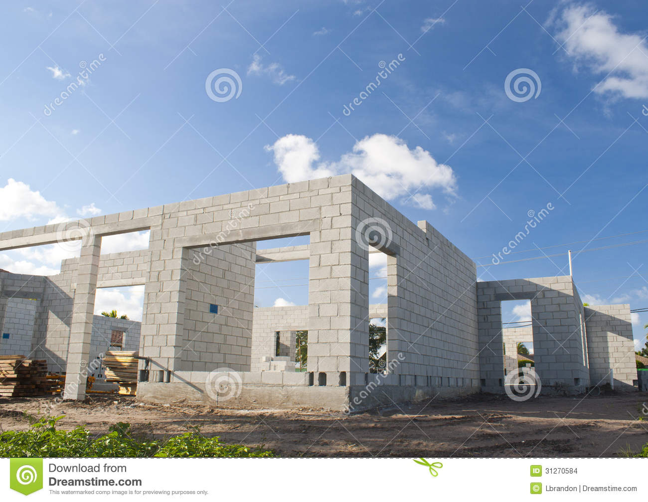 Concrete home construction stock photo image of stucco for Building a concrete house