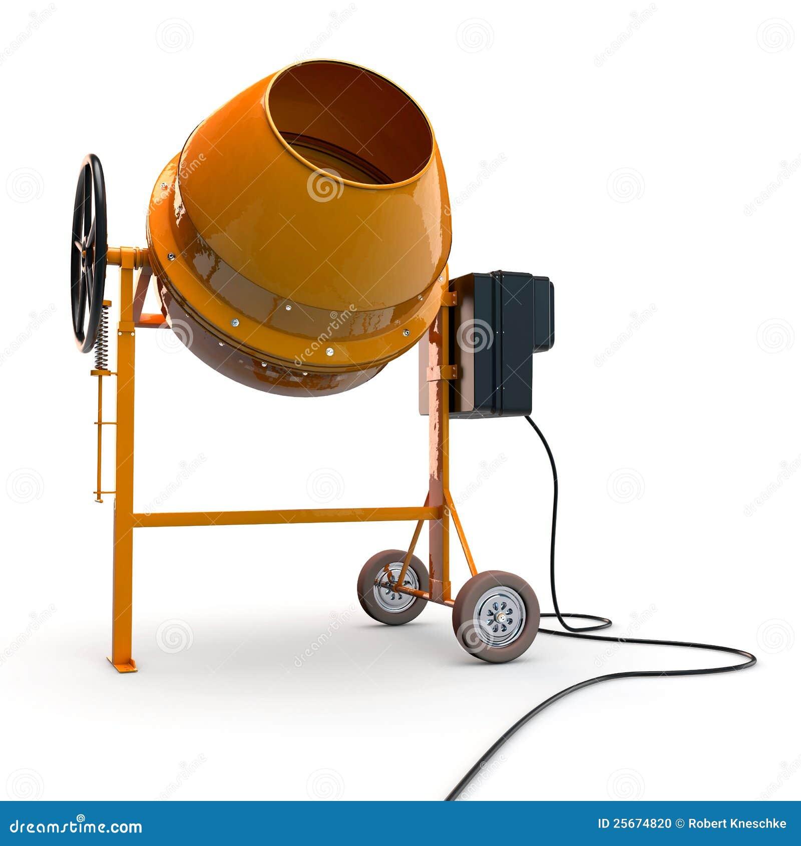 Concrete Mixing Animation : Concrete mixer stock photo image