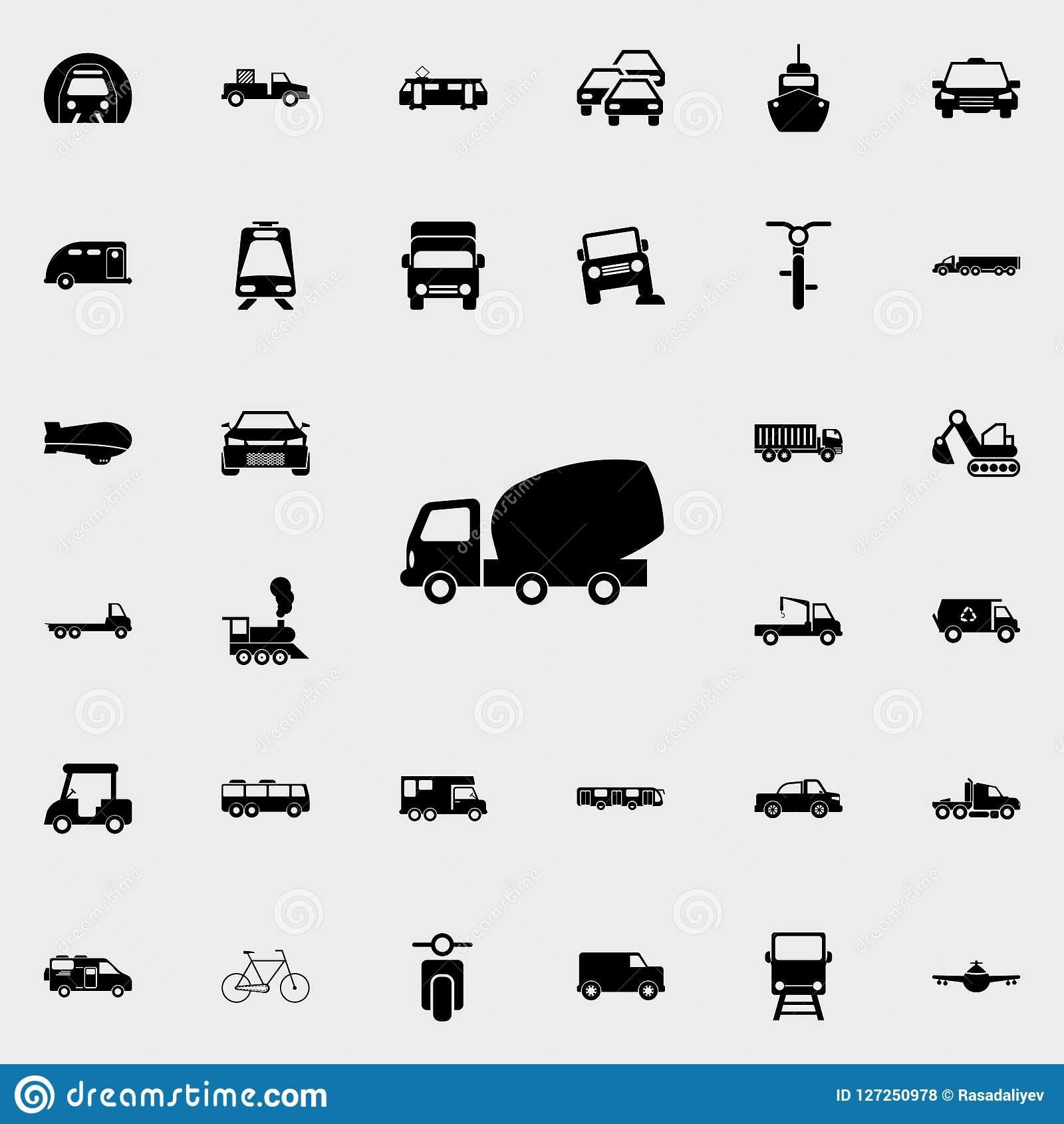 concrete mixer truck icon. transport icons universal set for web and mobile
