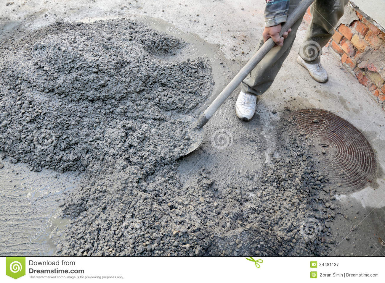 Concrete Mixing Animation : Concrete mixing royalty free stock photography image