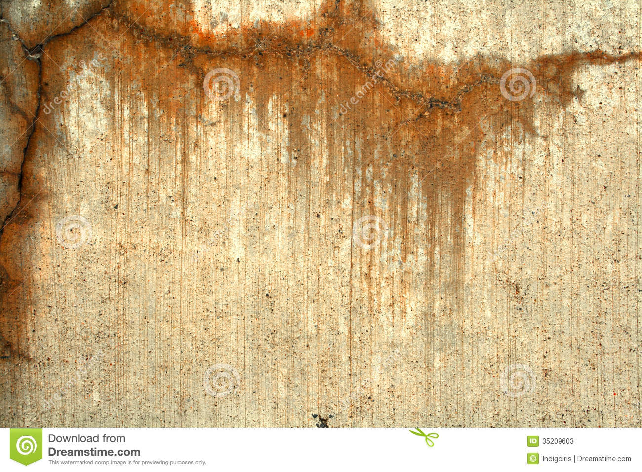 Concrete With Orange Stains Stock Image Image 35209603