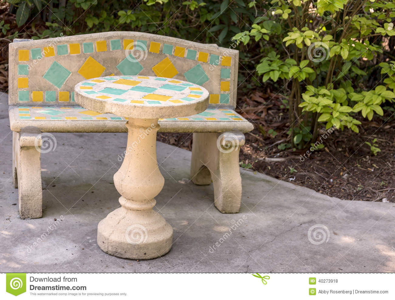 Concrete Patio Furniture Stock Photo Image Of Cafe Bench 40273918