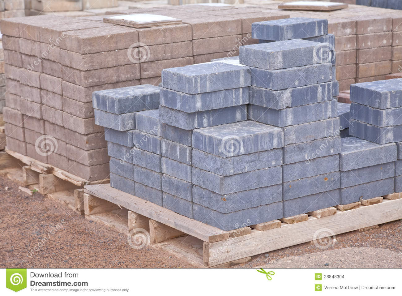 Concrete Pavers Stock Photo Image Of Sale Wooden Paving