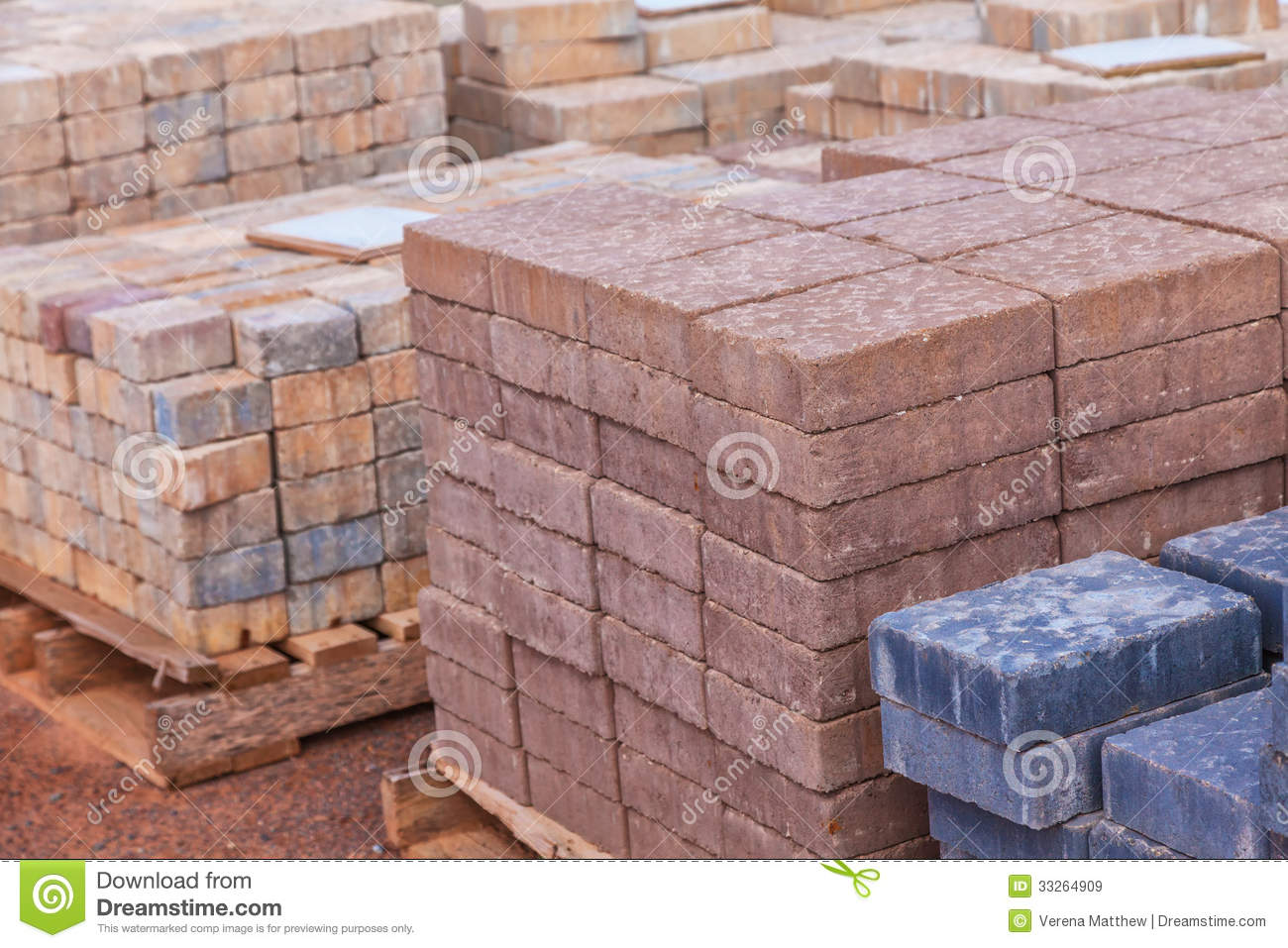 Concrete Pavers Royalty Free Stock Image