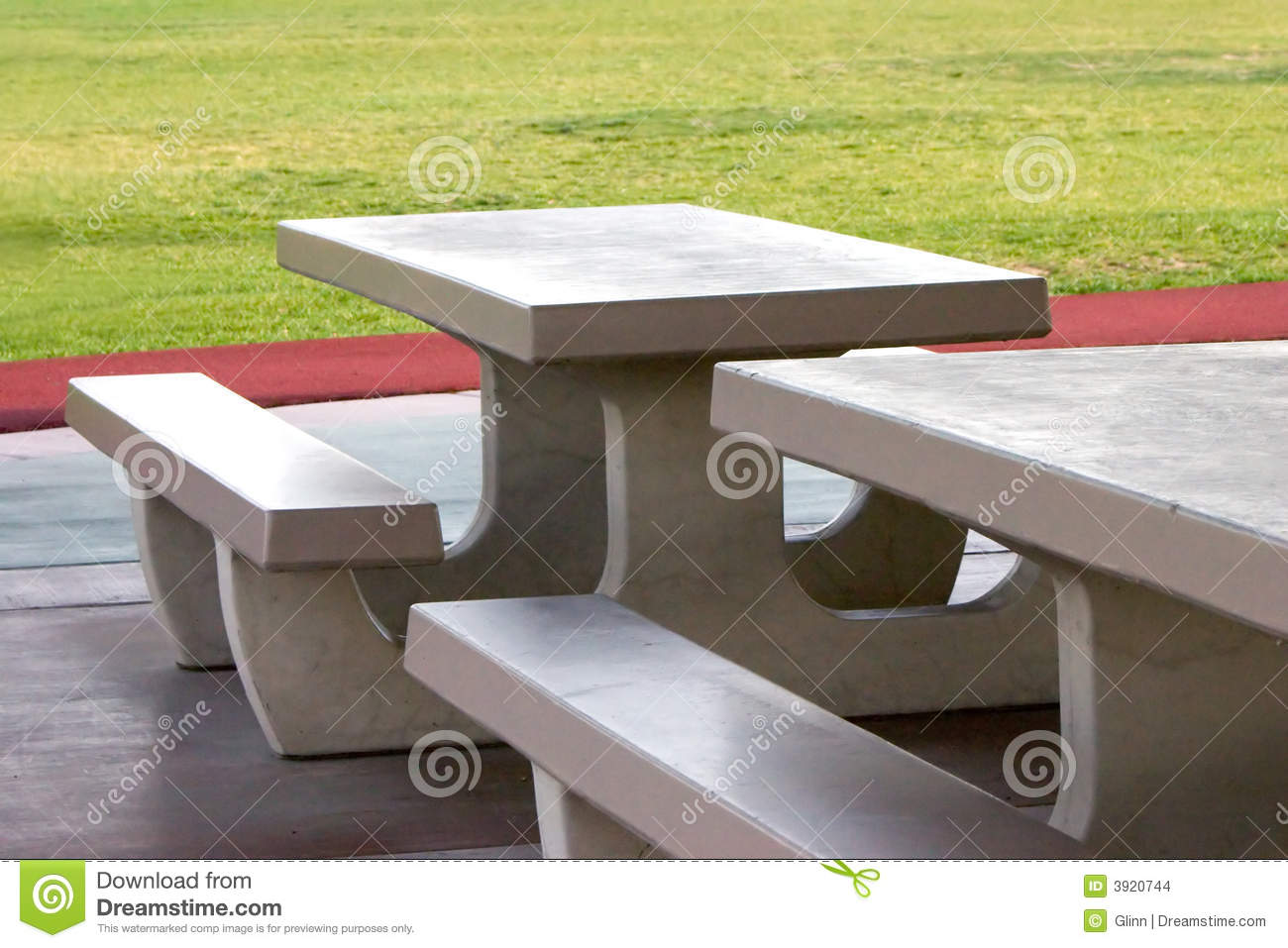 Superior Behind Concrete Grass Gray Green Park Picnic Side Tables ...