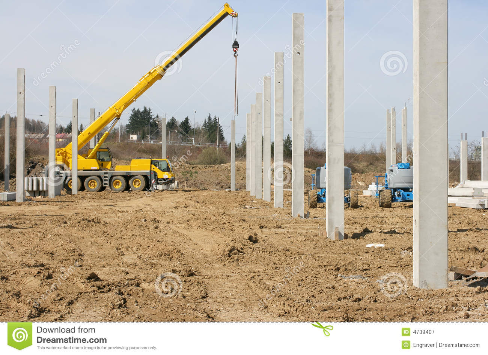 Pillar Concrete Buildings : Concrete pillar construction royalty free stock