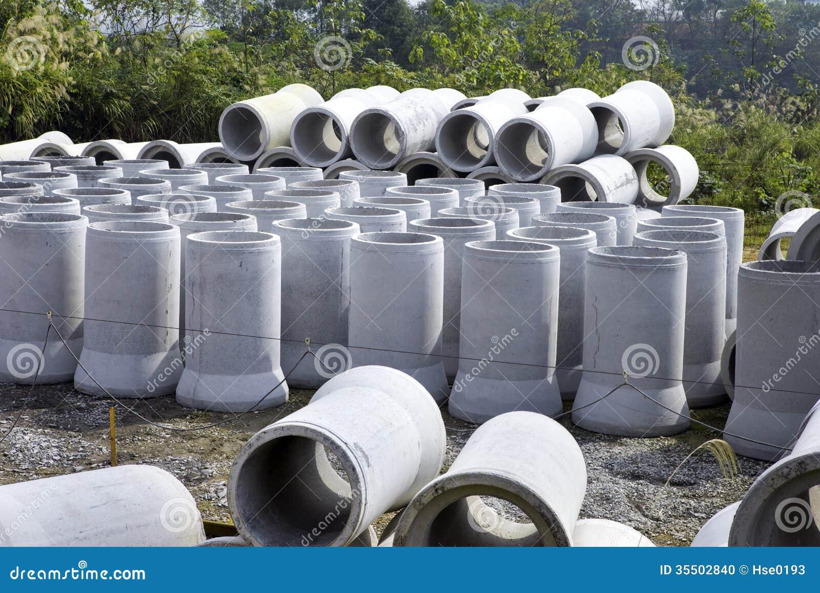 12 Concrete Pipe : Concrete pipe stock photo image