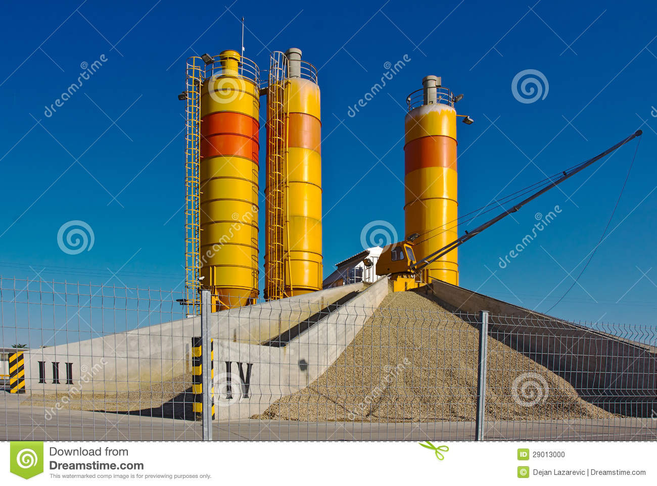 Cement Manufacturing Plants United States : Concrete plant stock photo image