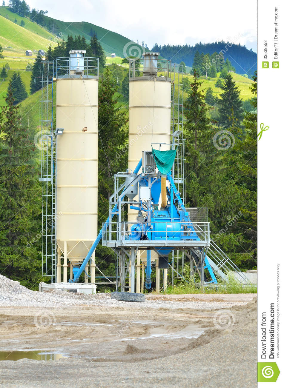 Cement Manufacturing Plants United States : Concrete plant in the mountain stock photos image