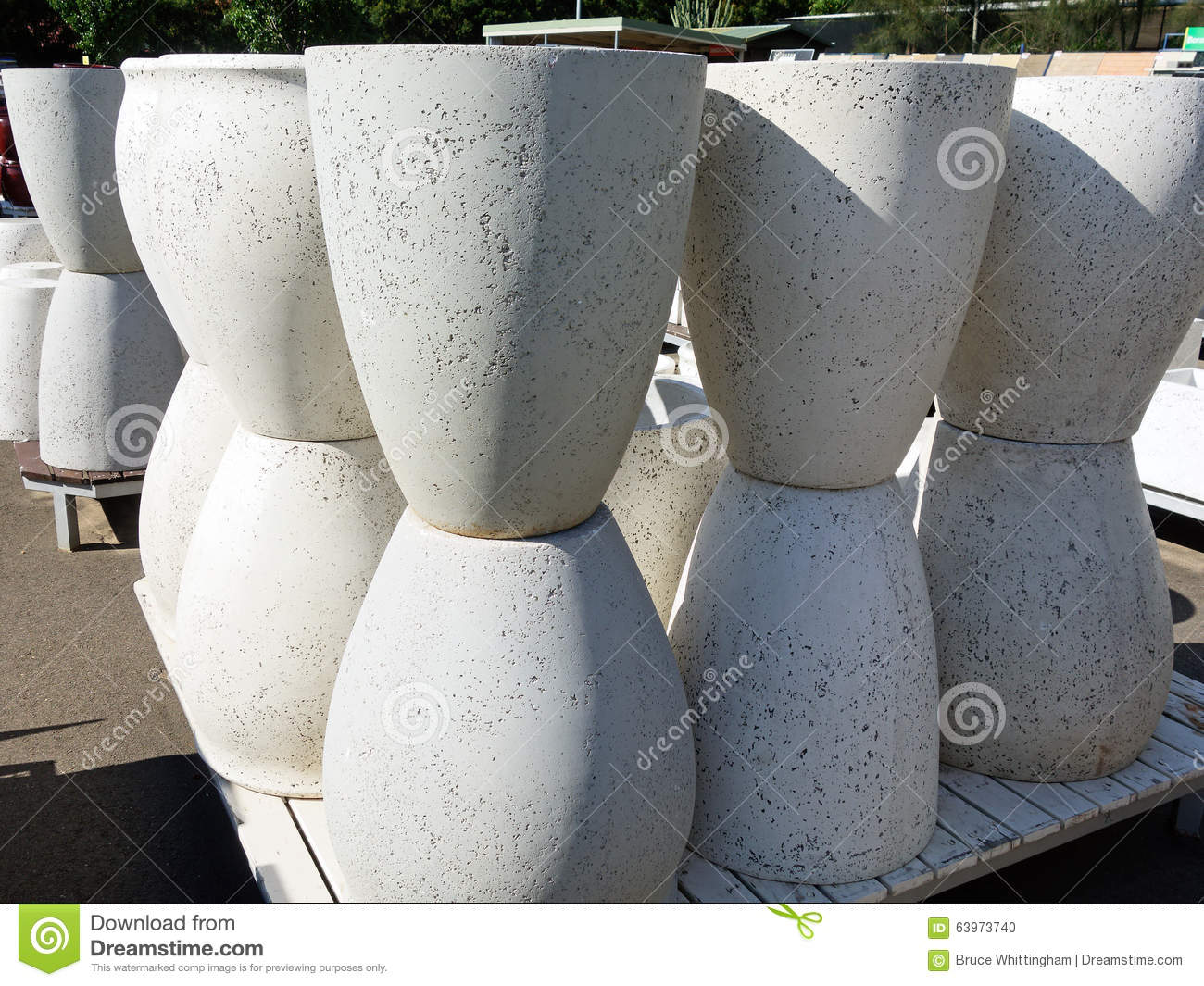 Concrete Planter Pots Stock Photo Image 63973740