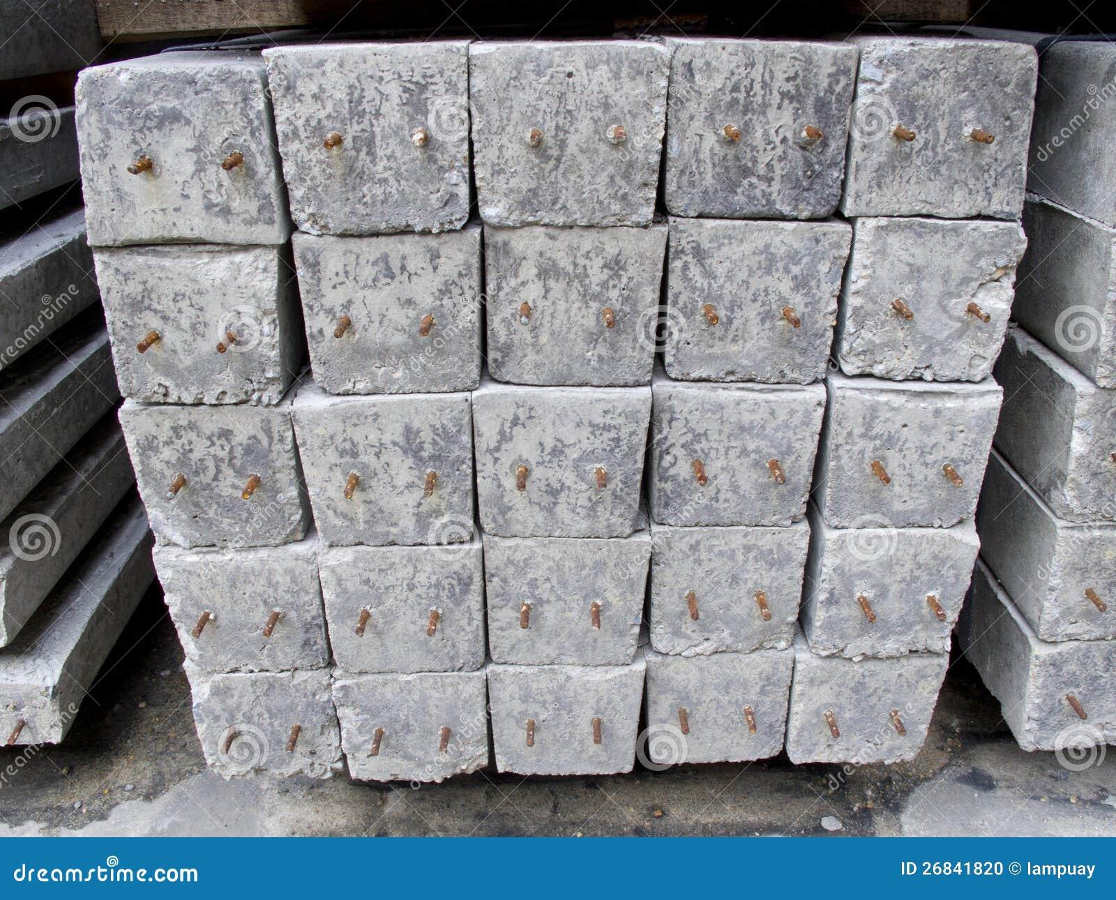 Concrete Pole Pile On Ground Stock Photo Image 26841820