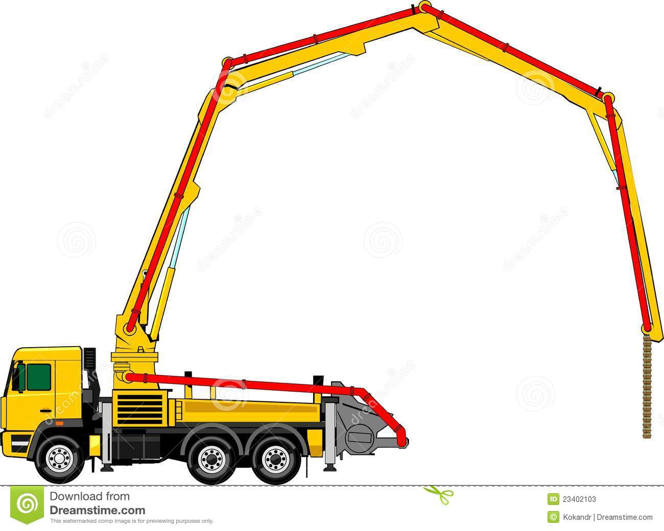 Stock Photos Concrete Pump Image23402103 on tube audio mixer