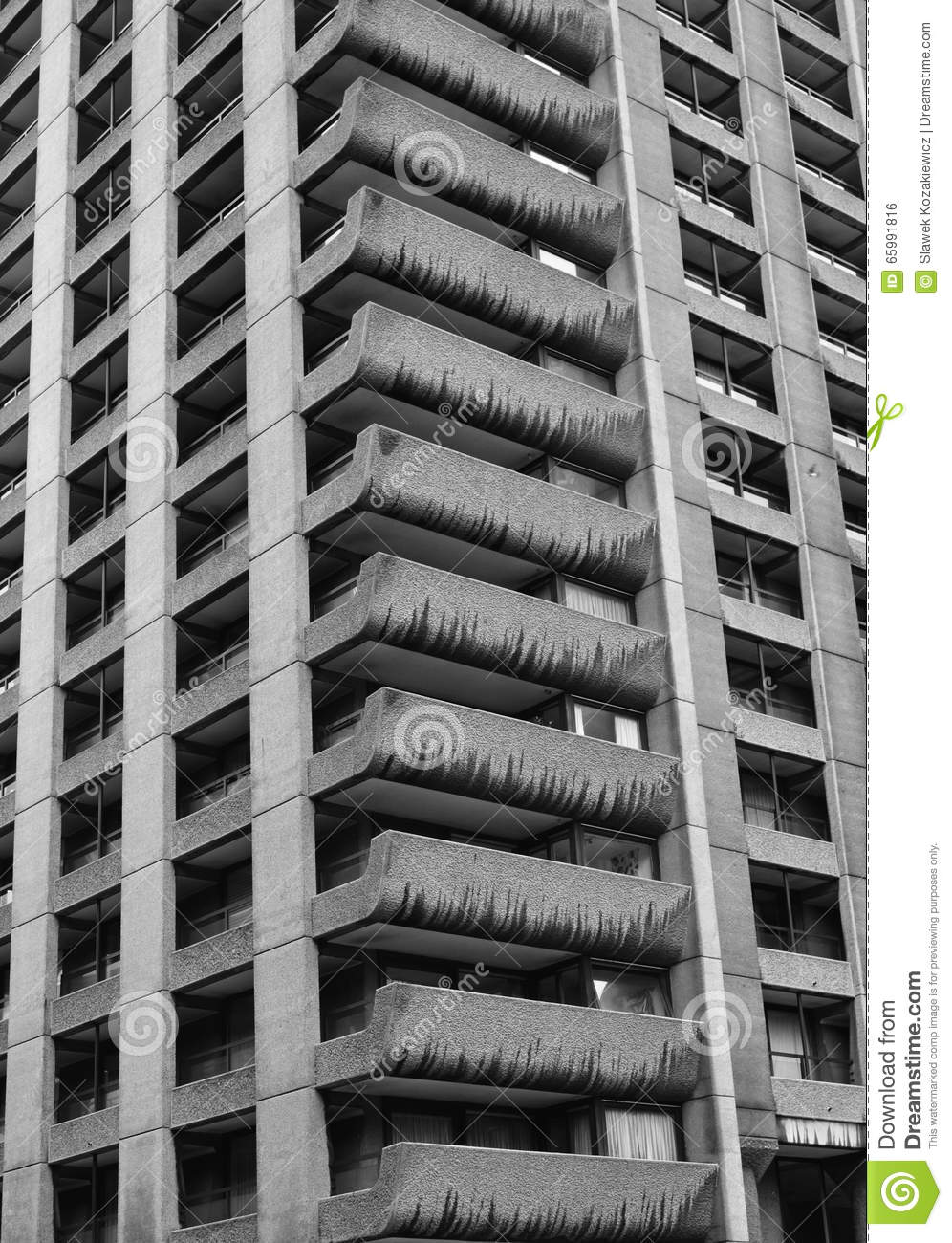 Black and white tower block royalty free stock photography for Black block