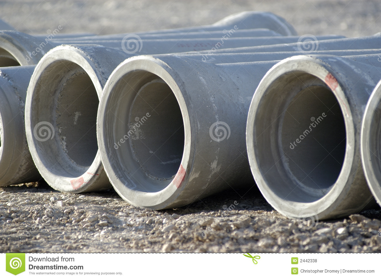 Concrete sewer pipes royalty free stock photos image 2442338