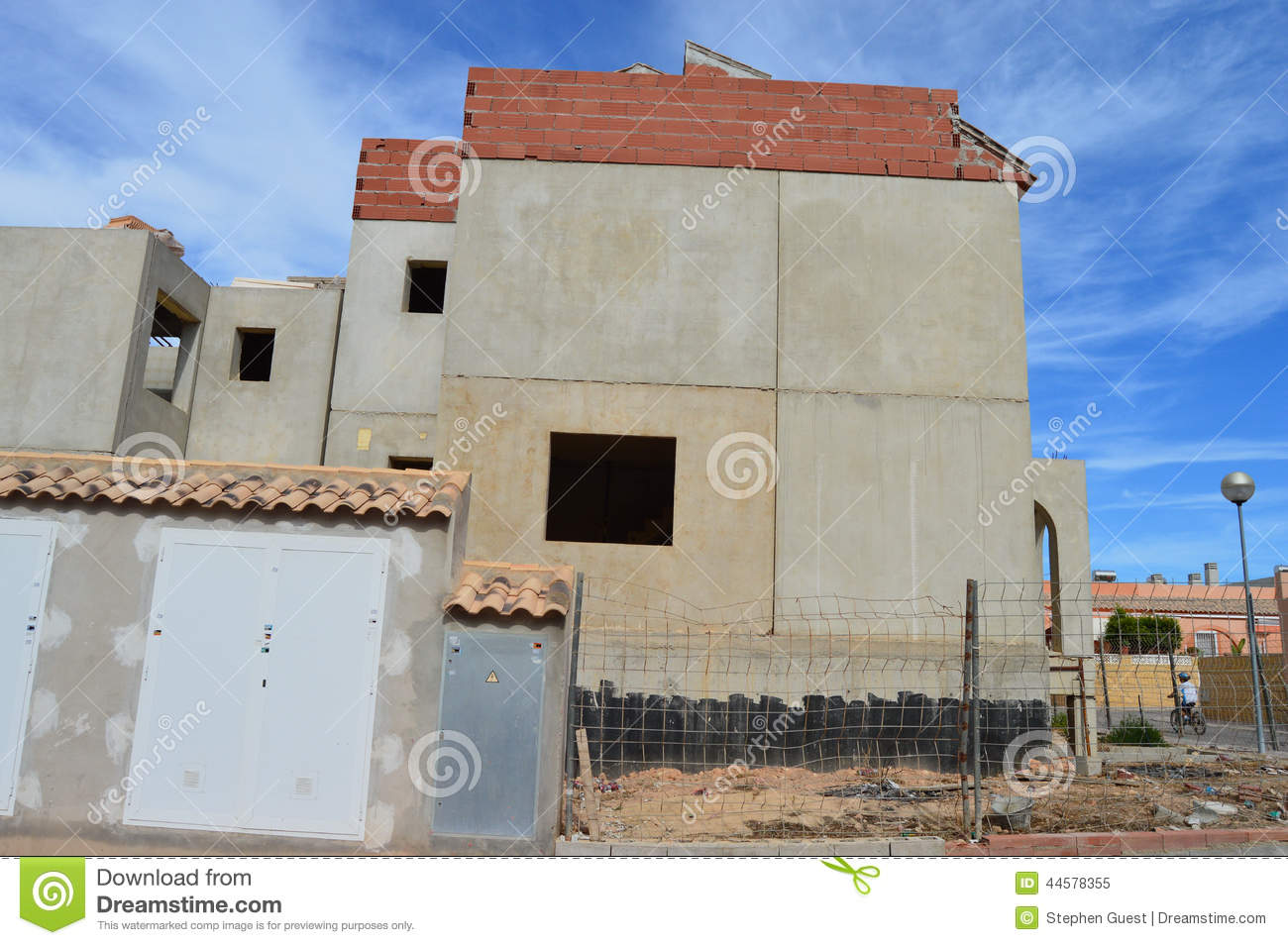 Concrete slab construction of spanish houses house for House building website