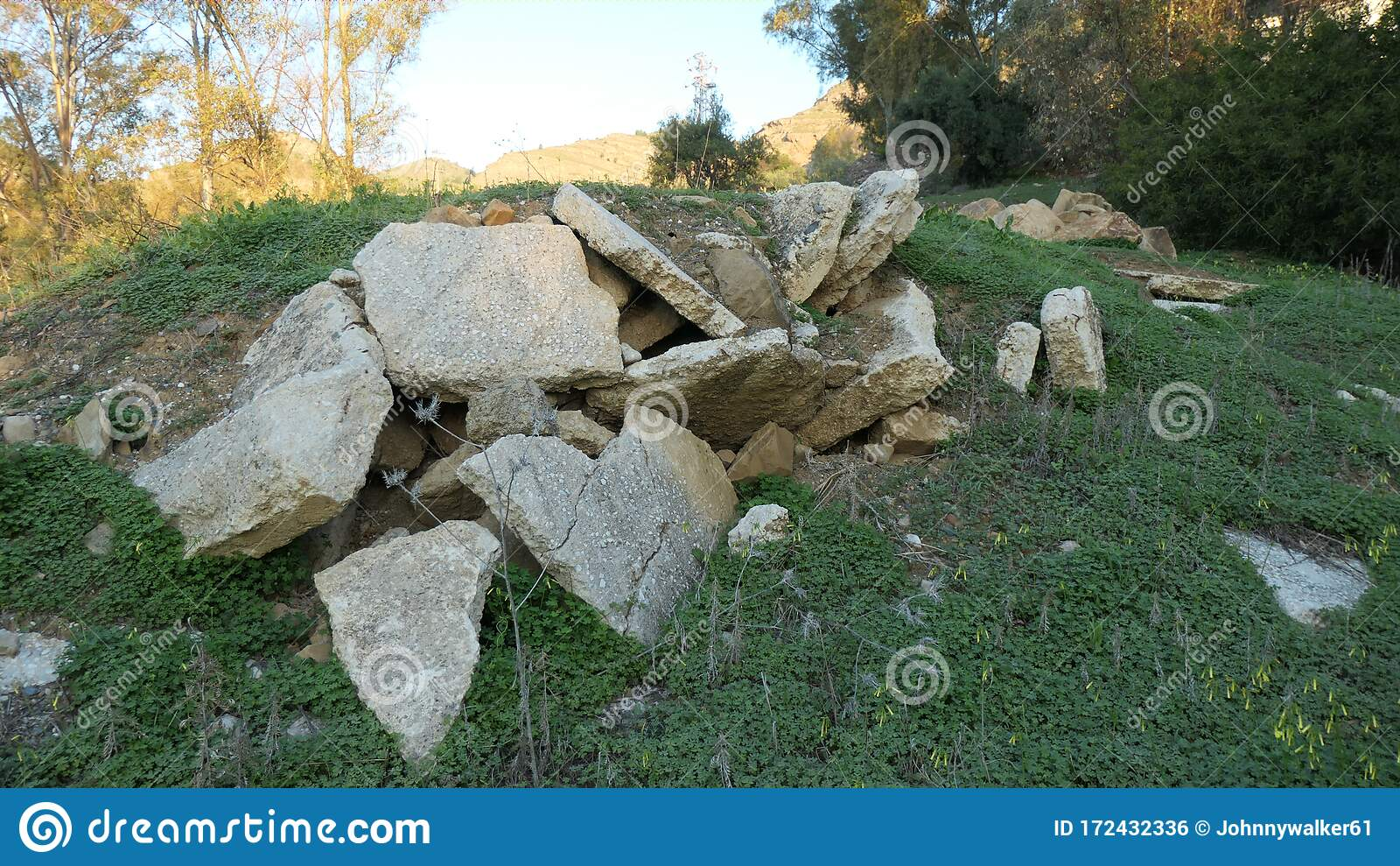 Concrete Slab Hillock Stock Photo Image Of Construction 172432336