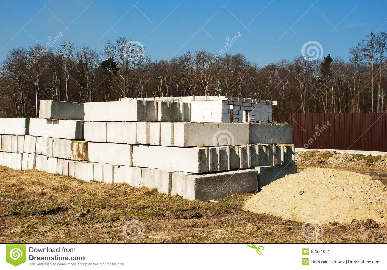 Concrete slabs to build a house stock photo image 52521001 for Building a house on a slab