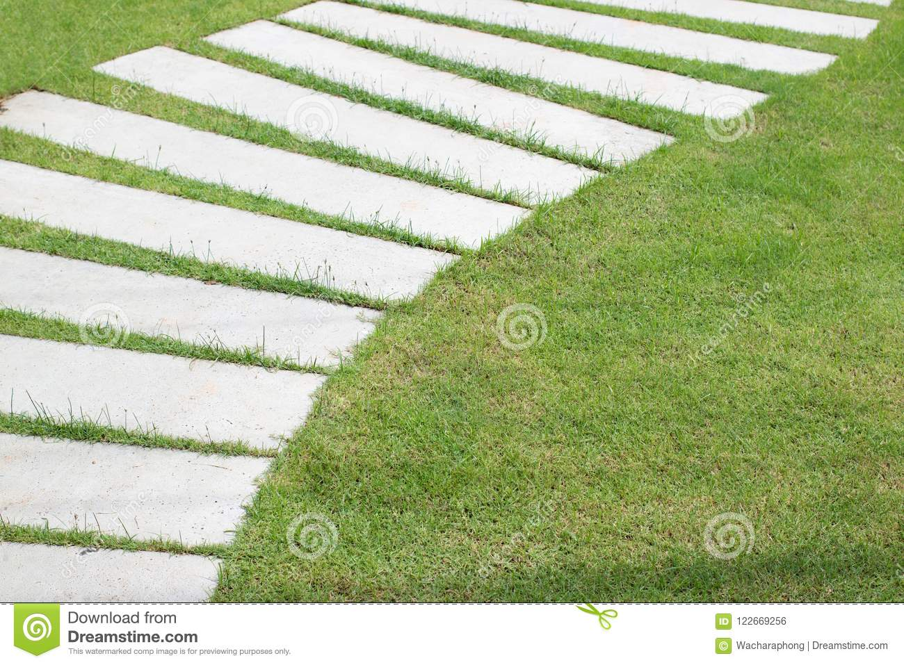 Concrete Slabs stock photo  Image of grass, brick, park