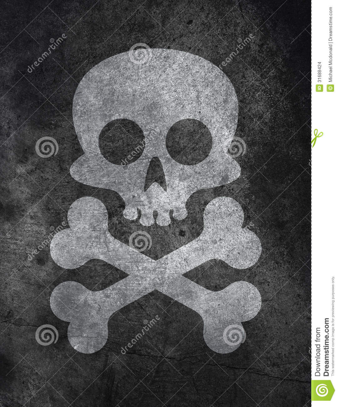 Concrete Texture With Skull Stock Images Image 31688424