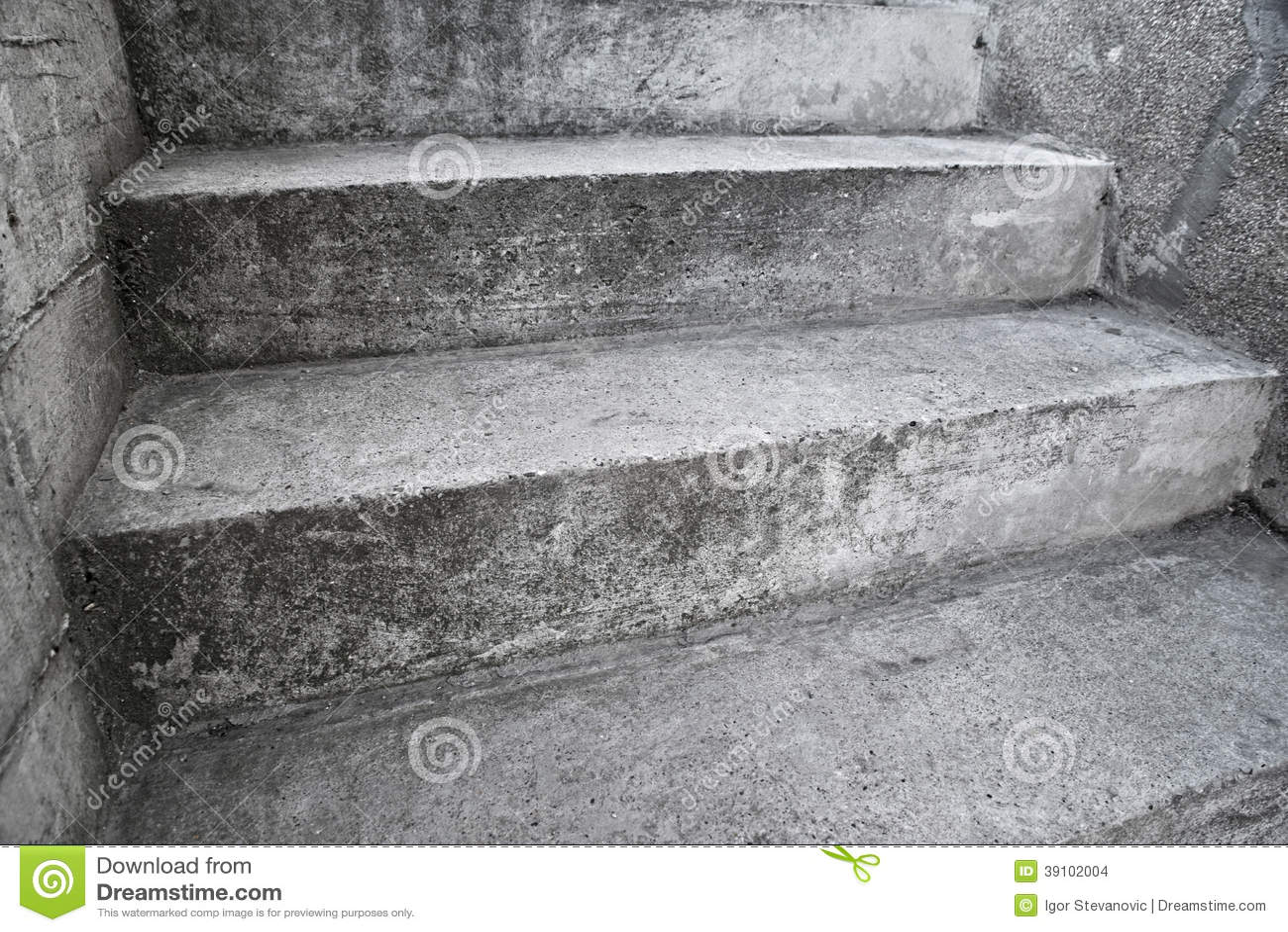 Concrete trap als abstrct samenstelling