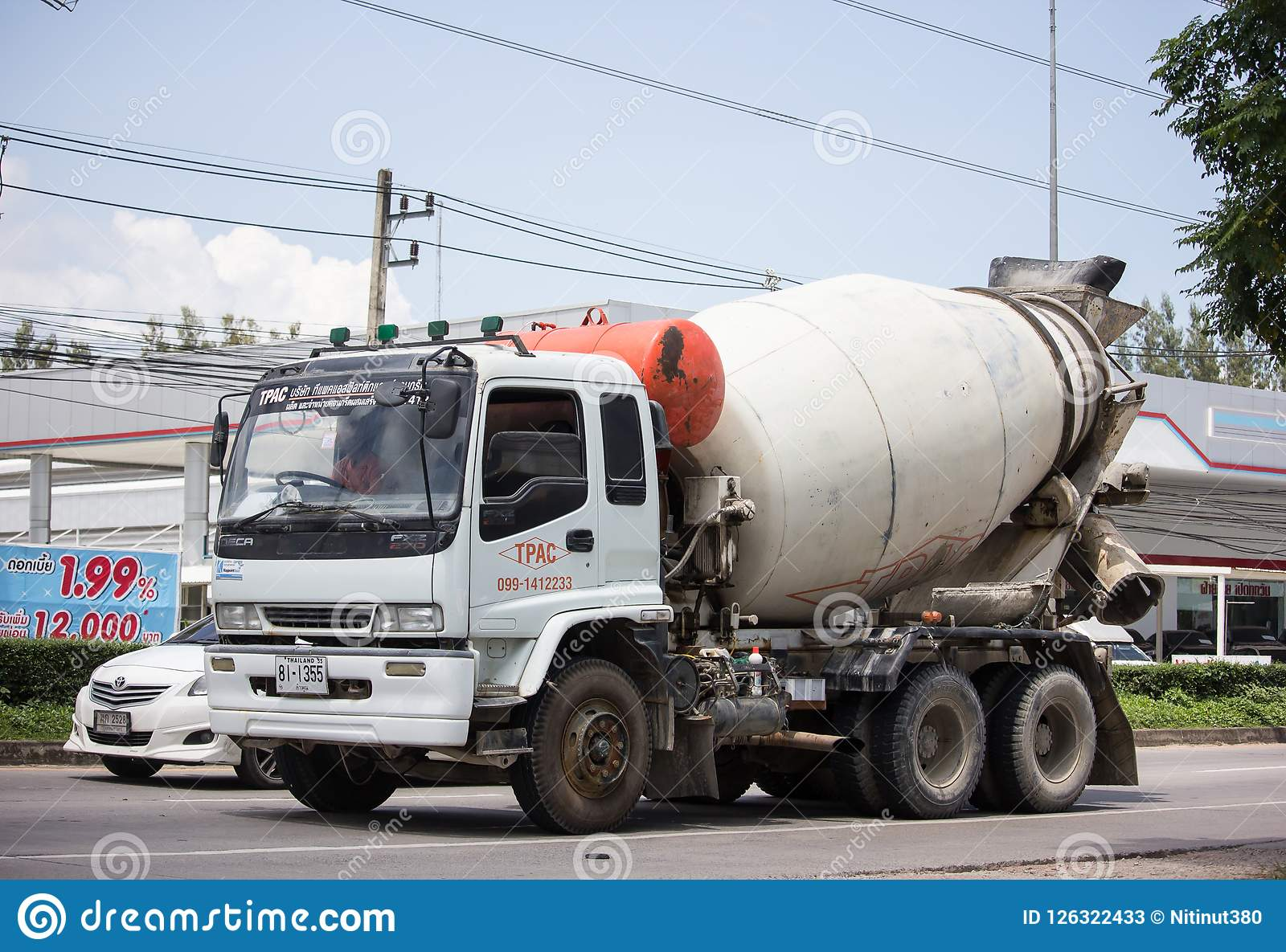 Concrete Truck Of TPAC Concrete Product Company  Editorial
