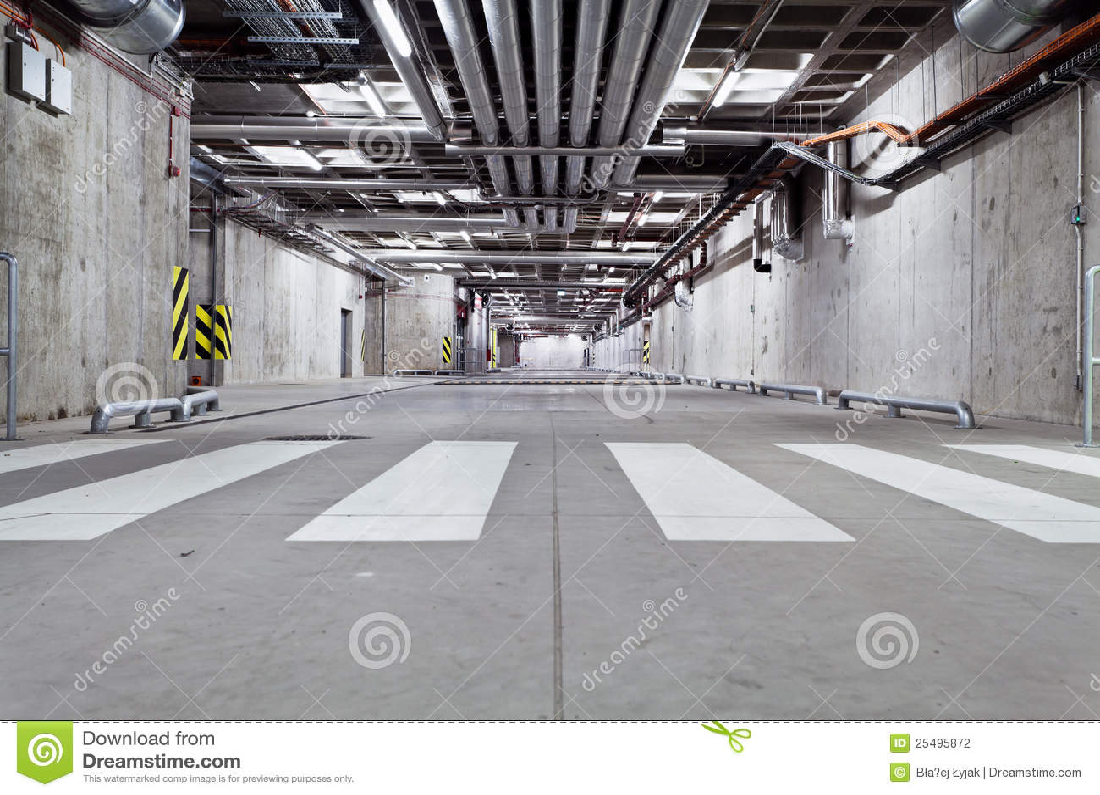 Concrete Underground Garage : Concrete underground road stock photo image of