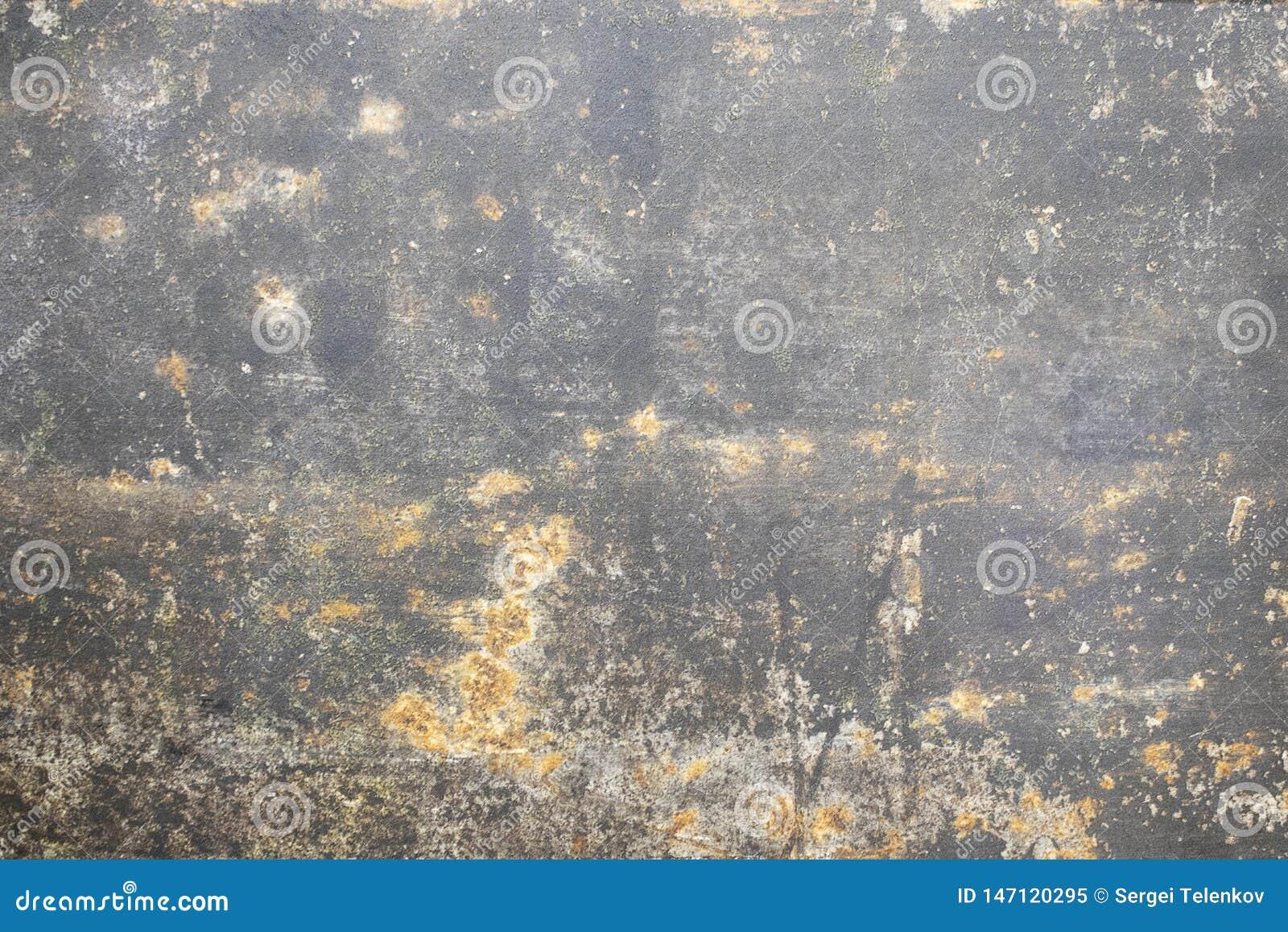 Concrete vlotte textuur donkere roestige kleur Natuurlijk muurmarmer