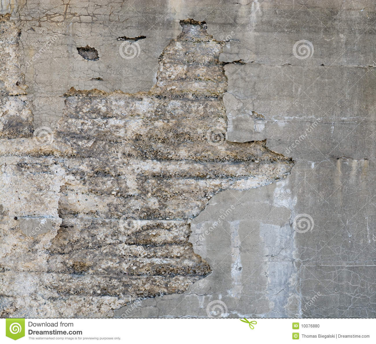 Concrete wall stock photo image 10076880 for Crumbling concrete floor