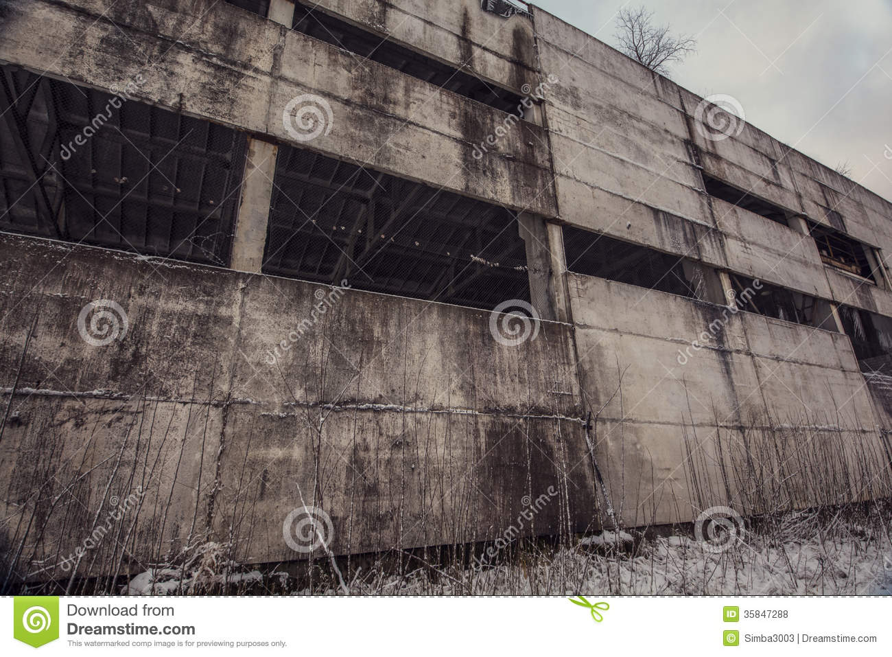 concrete wall of abandoned ghost factory stock photo image 35847288. Black Bedroom Furniture Sets. Home Design Ideas