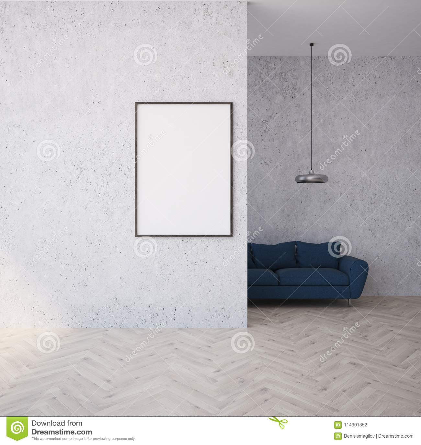 Terrific White Living Room Black Sofa Poster Stock Illustration Beatyapartments Chair Design Images Beatyapartmentscom