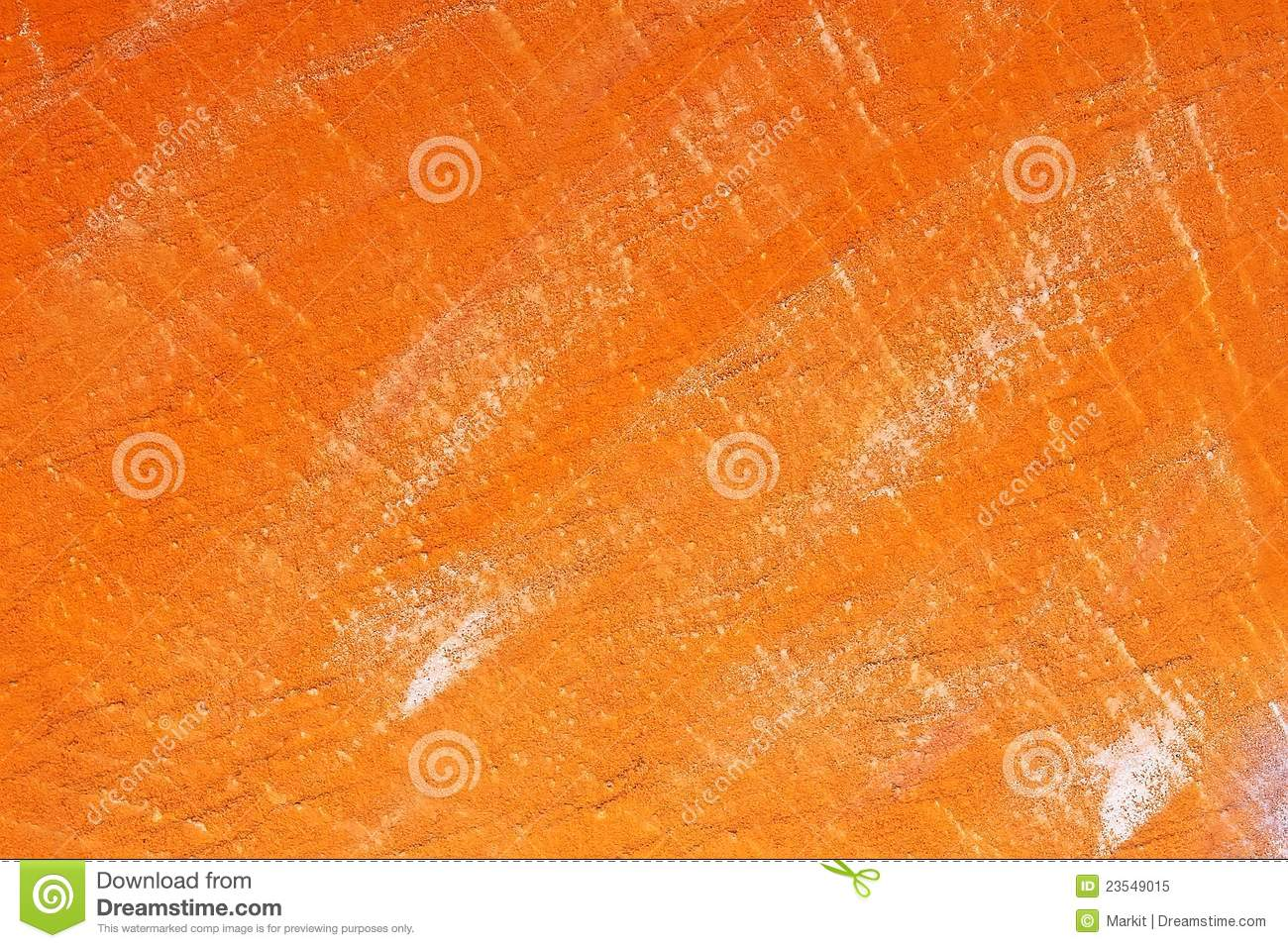 Concrete Wall Painted With Orange Royalty Free Stock Photo
