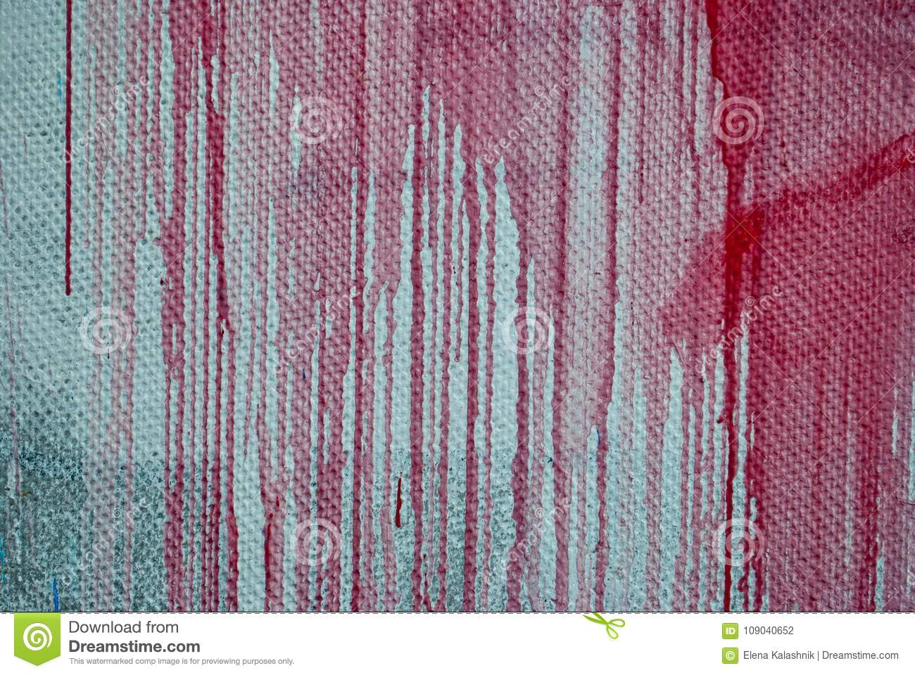 Concrete Wall Stains Of Red Paint Graffiti Stock Photo