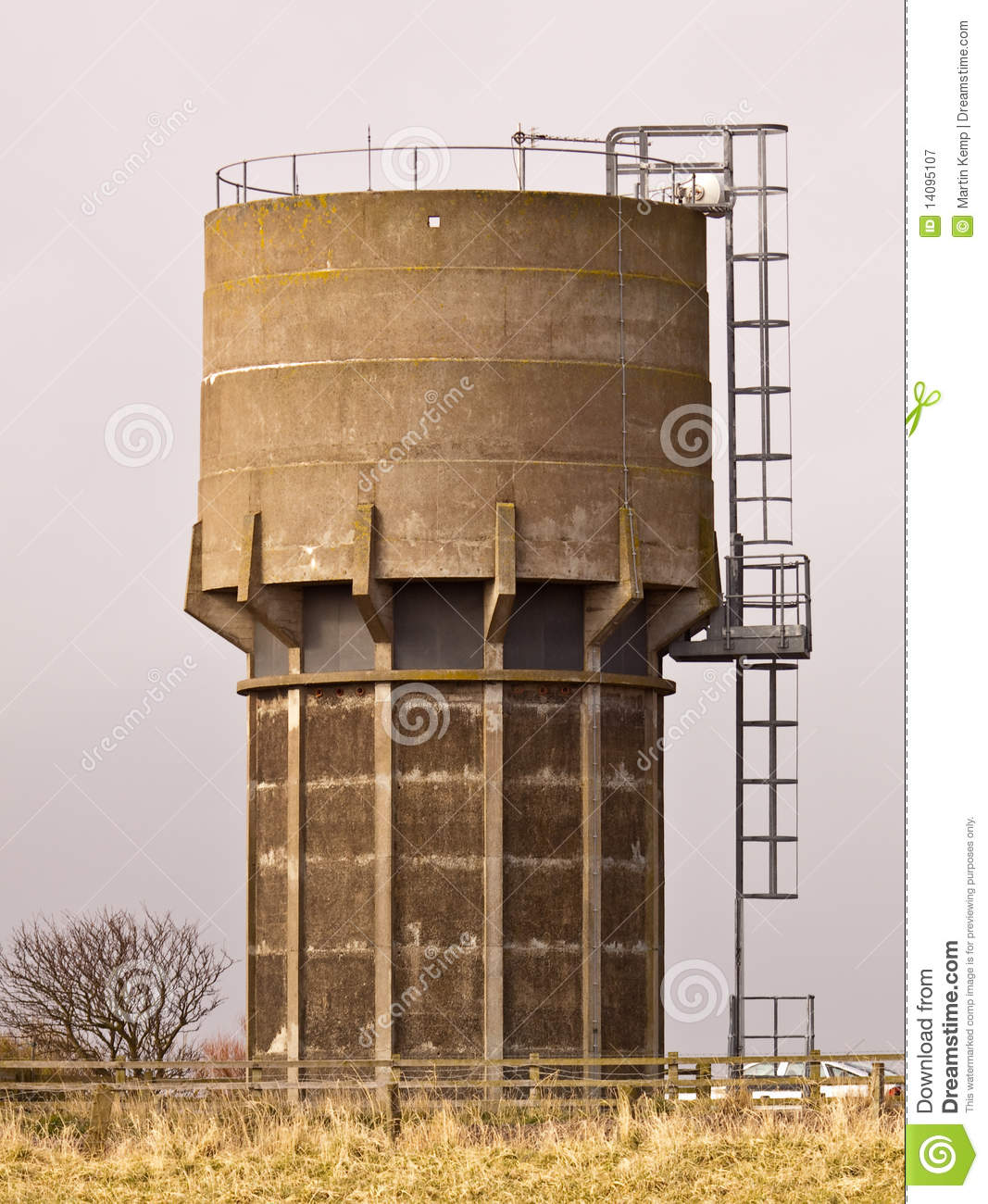 Concrete Water Tower stock image  Image of northumberland