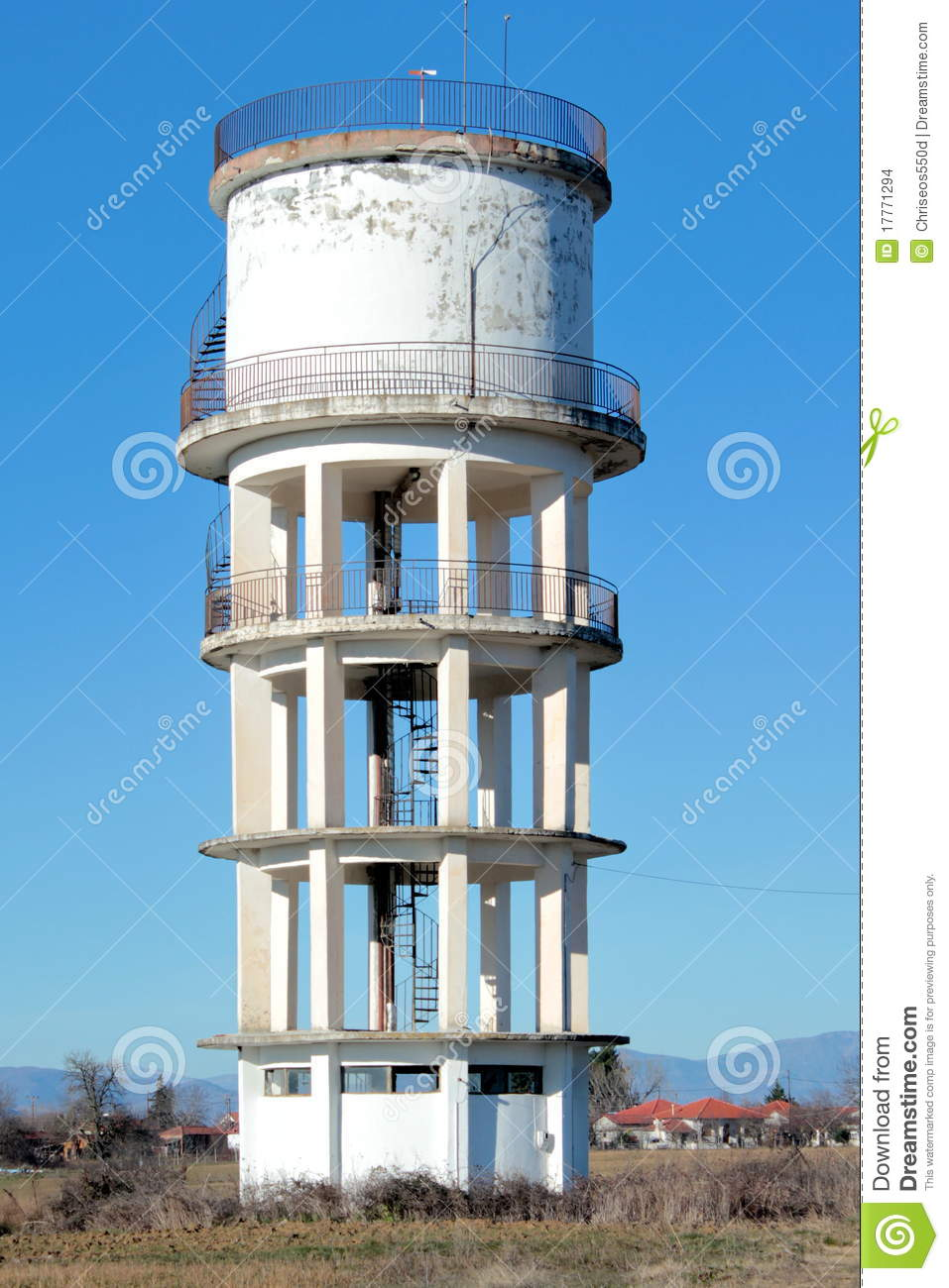 Concrete Water Tower Stock Images Image 17771294