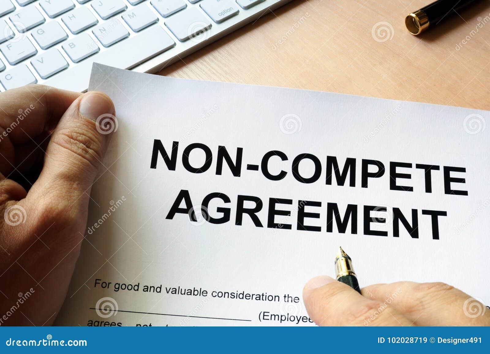 Concurreer niet overeenkomst