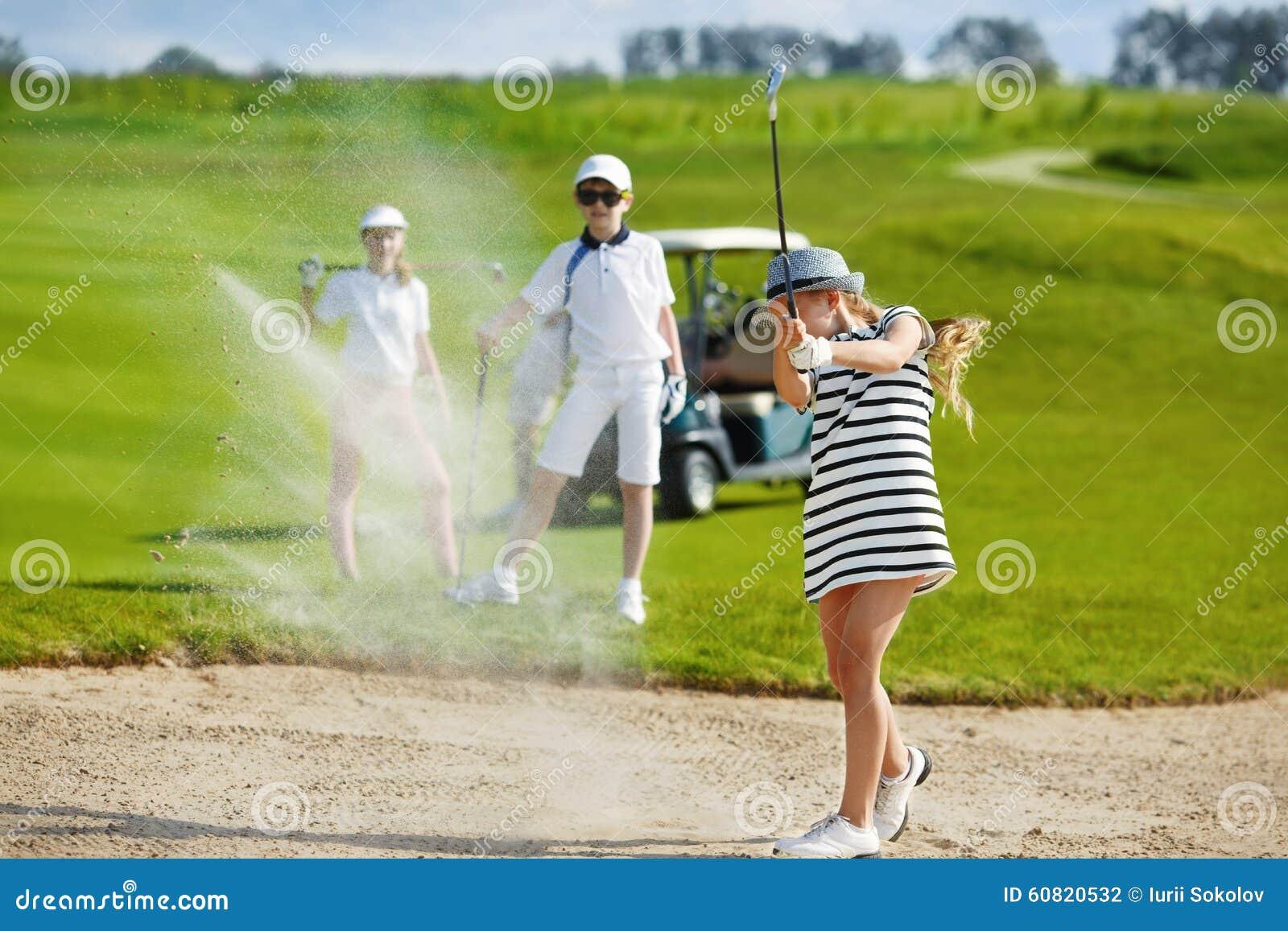 Concurrence de golf d enfants