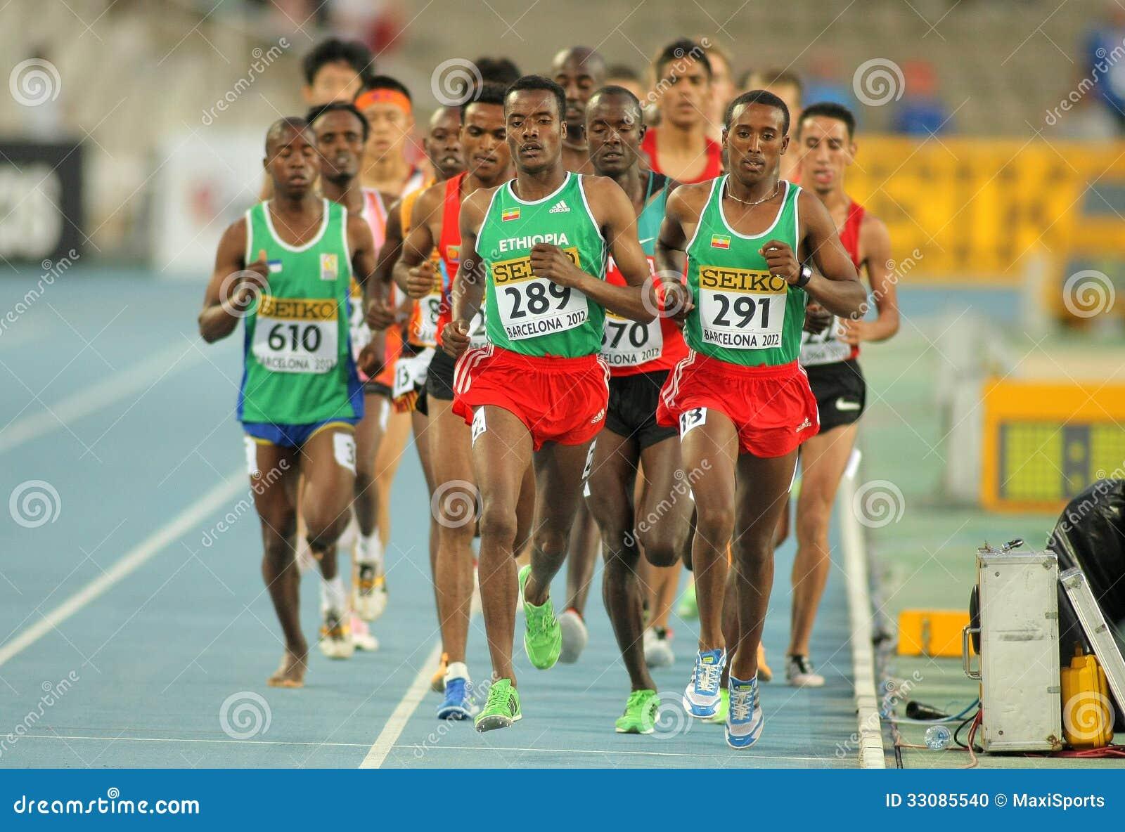 Concurrenten op 5000 meters