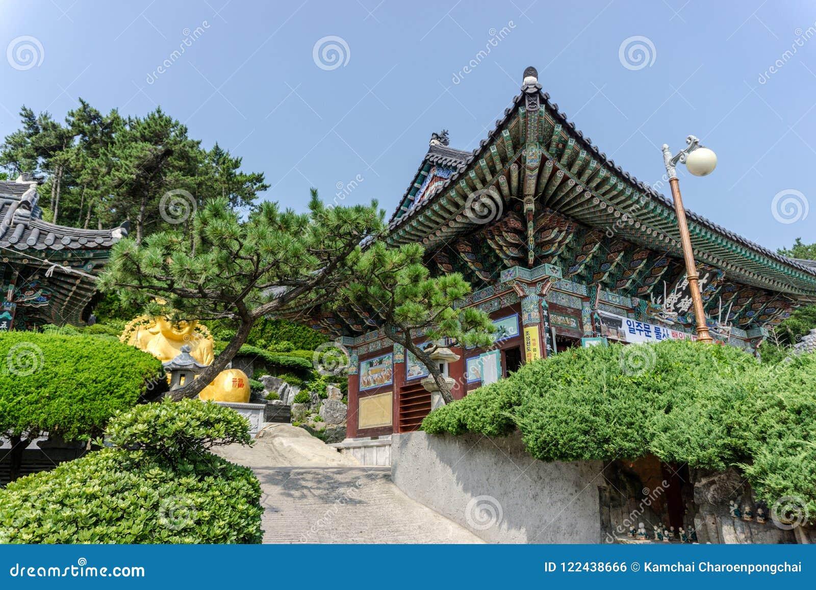 Condado principal do templo de Haedong Yonggungsa em Busan, Coreia do Sul