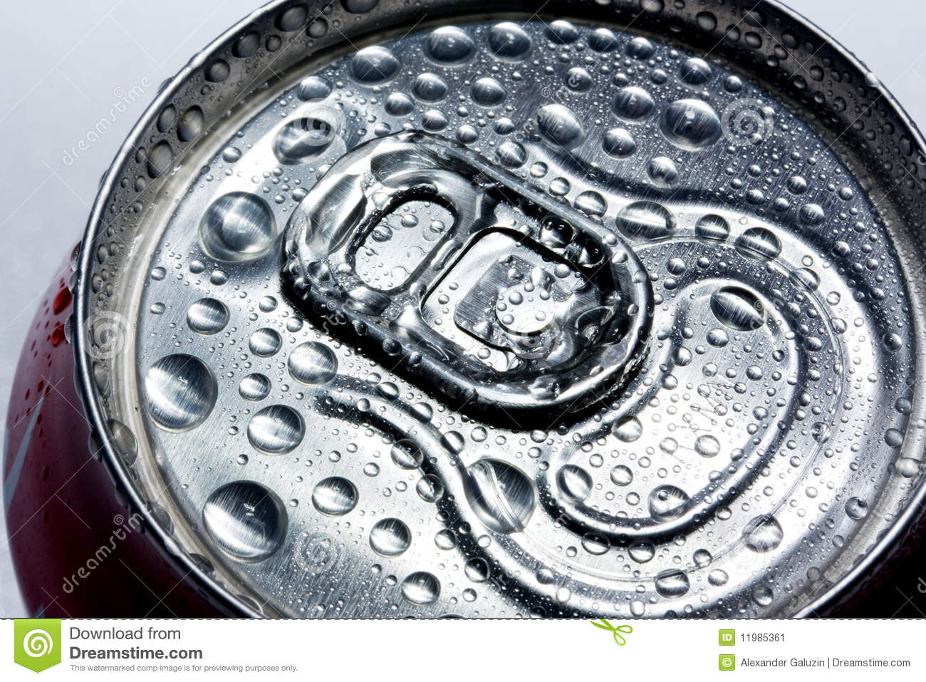 condensation on drinks can stock image image 11985361