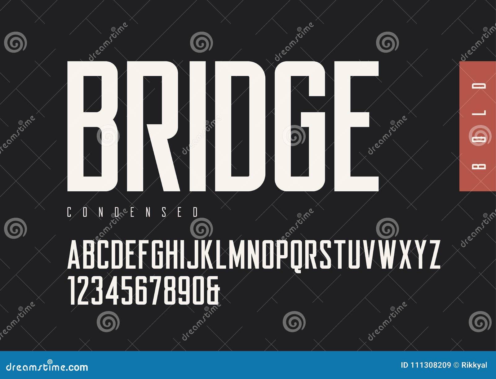 Condensed Bold Retro Sans Serif  Vector Typefaces, Uppercase