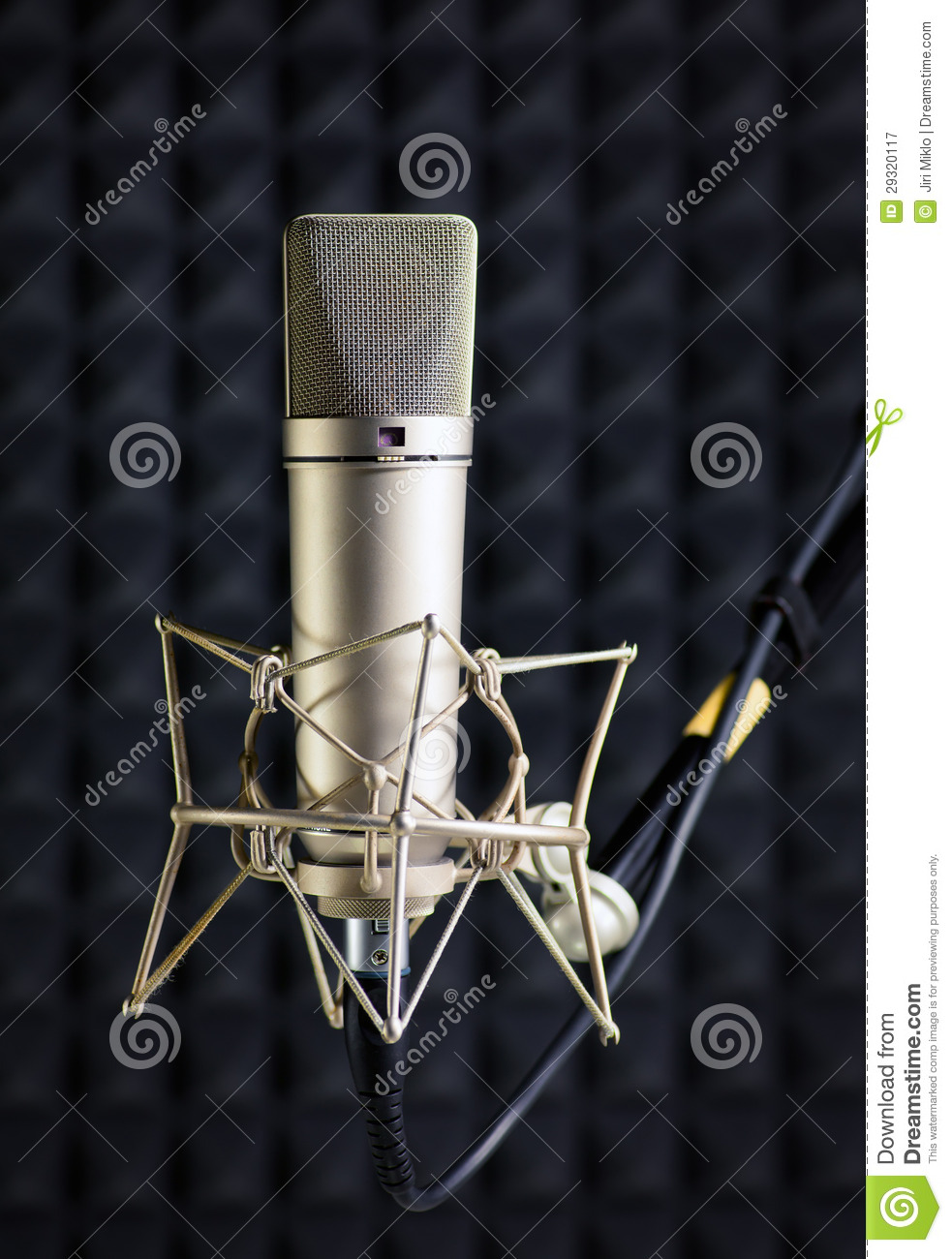 condenser microphone in recording studio stock image image of concert noise 29320117. Black Bedroom Furniture Sets. Home Design Ideas