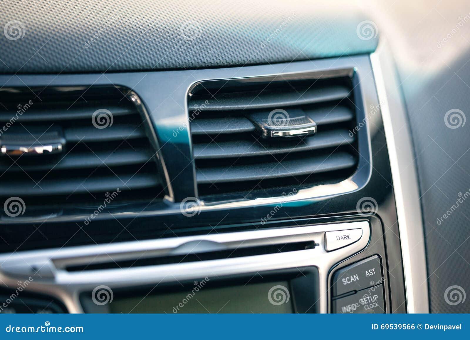 Condicionador de ar o fluxo de ar dentro do carro